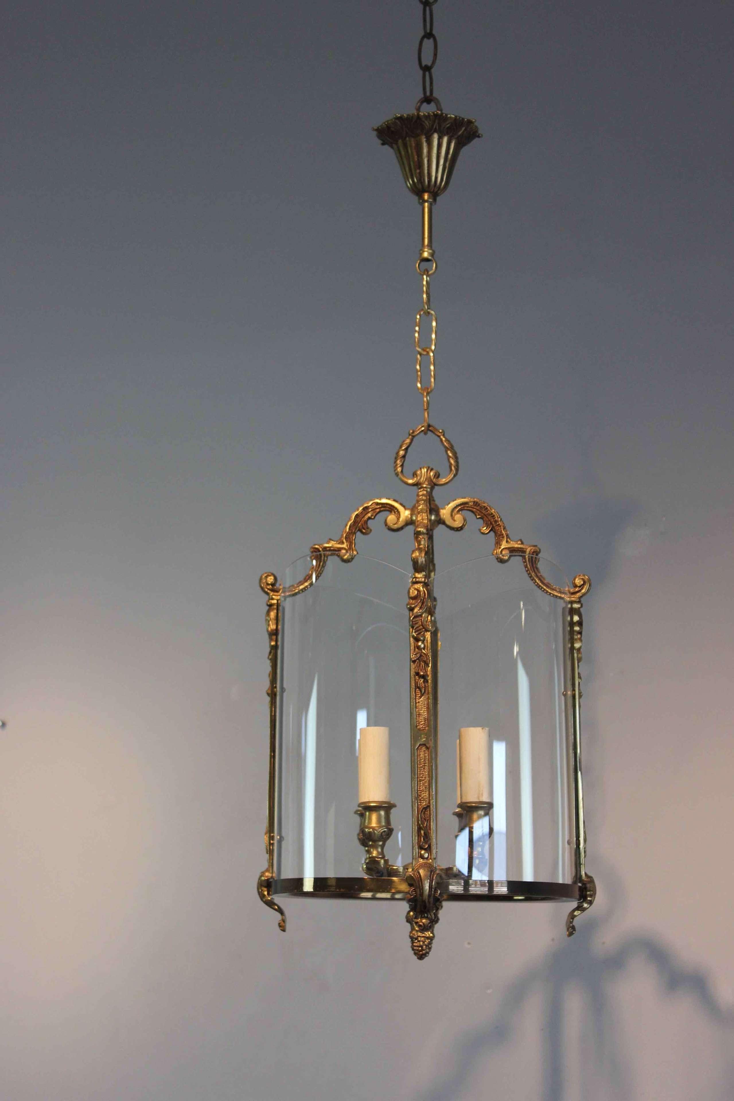 Circular glass French hall lantern