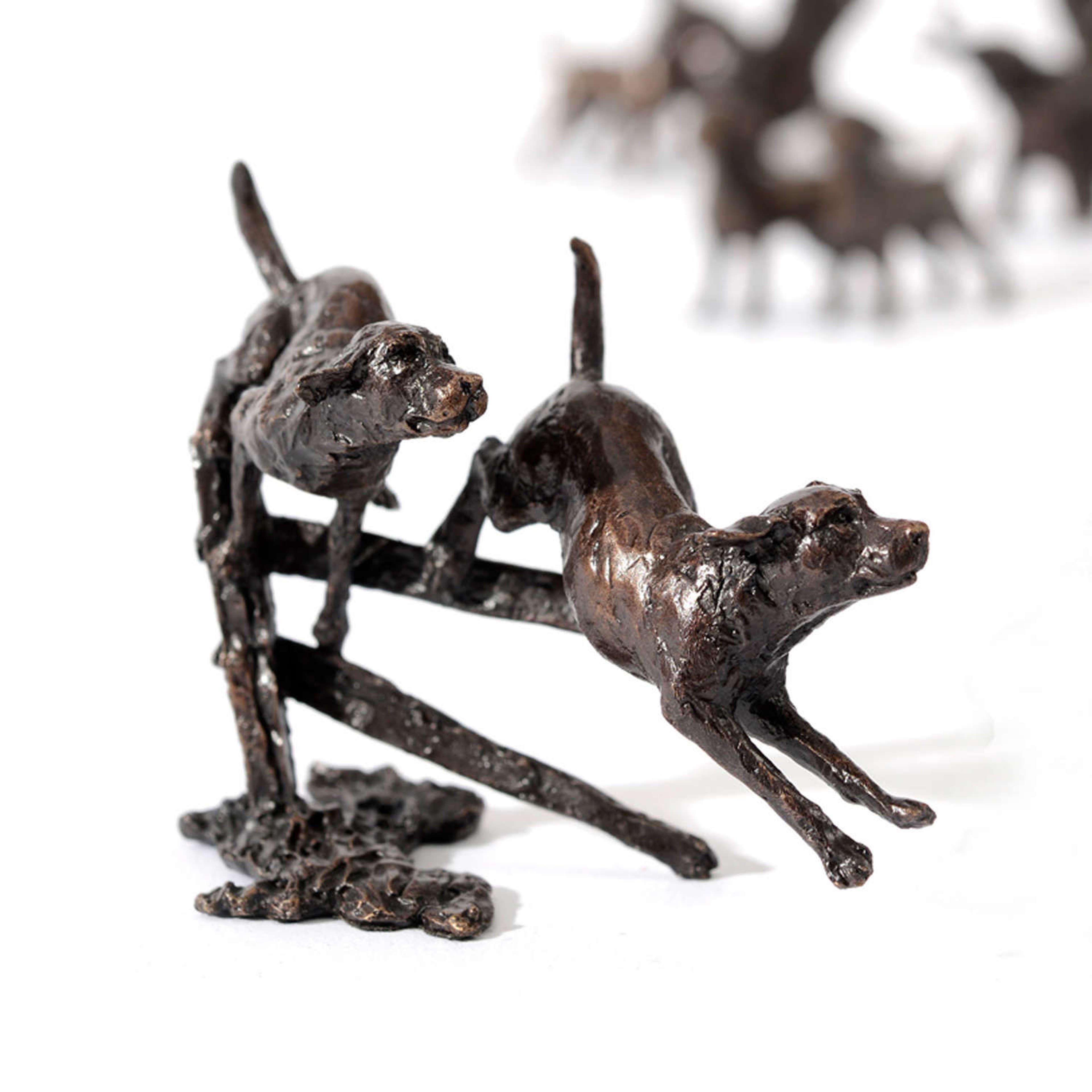Butler & Peach Miniature Bronze Labradors Running