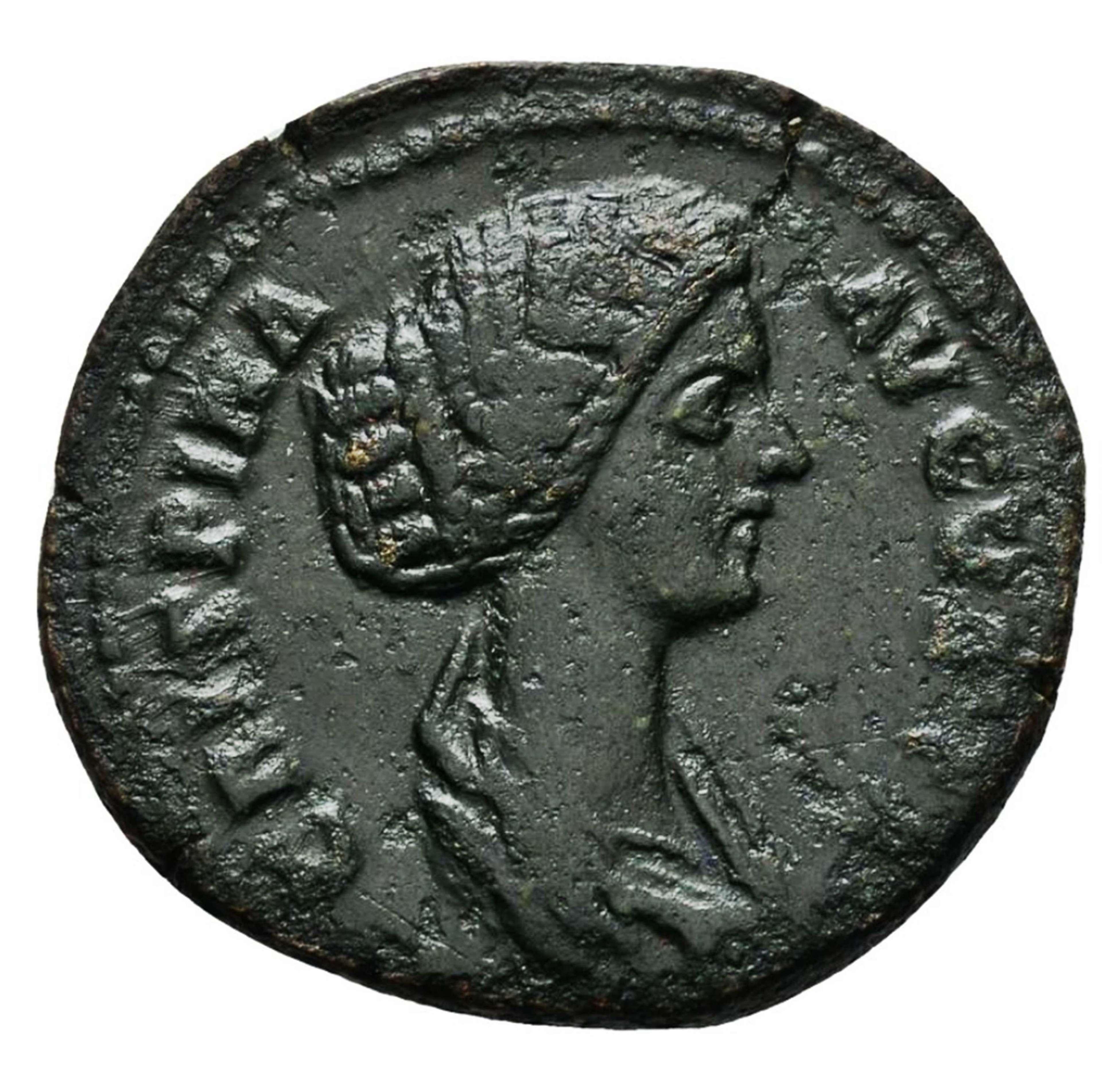 Ancient Roman Copper As of empress Crispina / Harmony