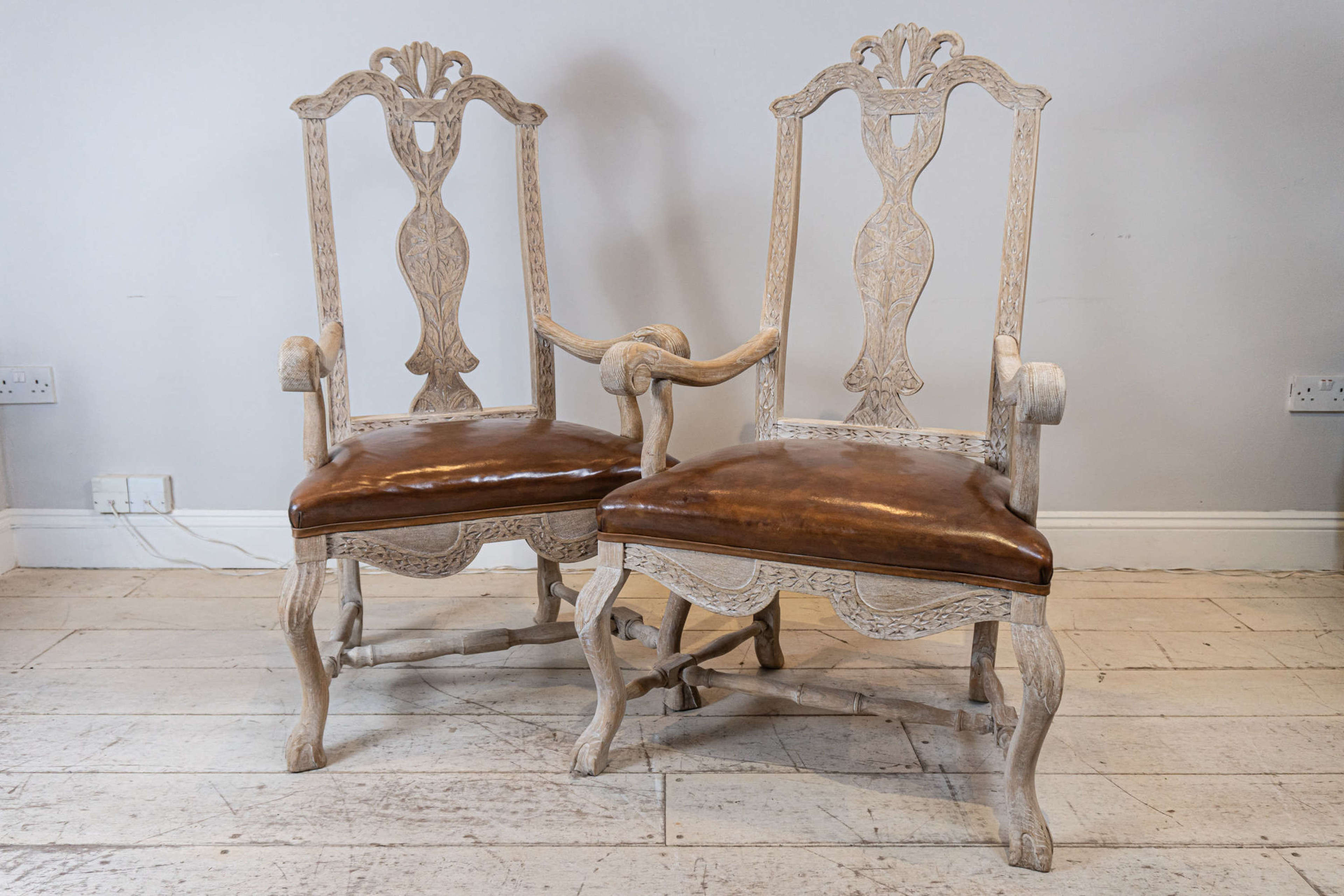 Pair of Swedish Carvers/Side Chairs