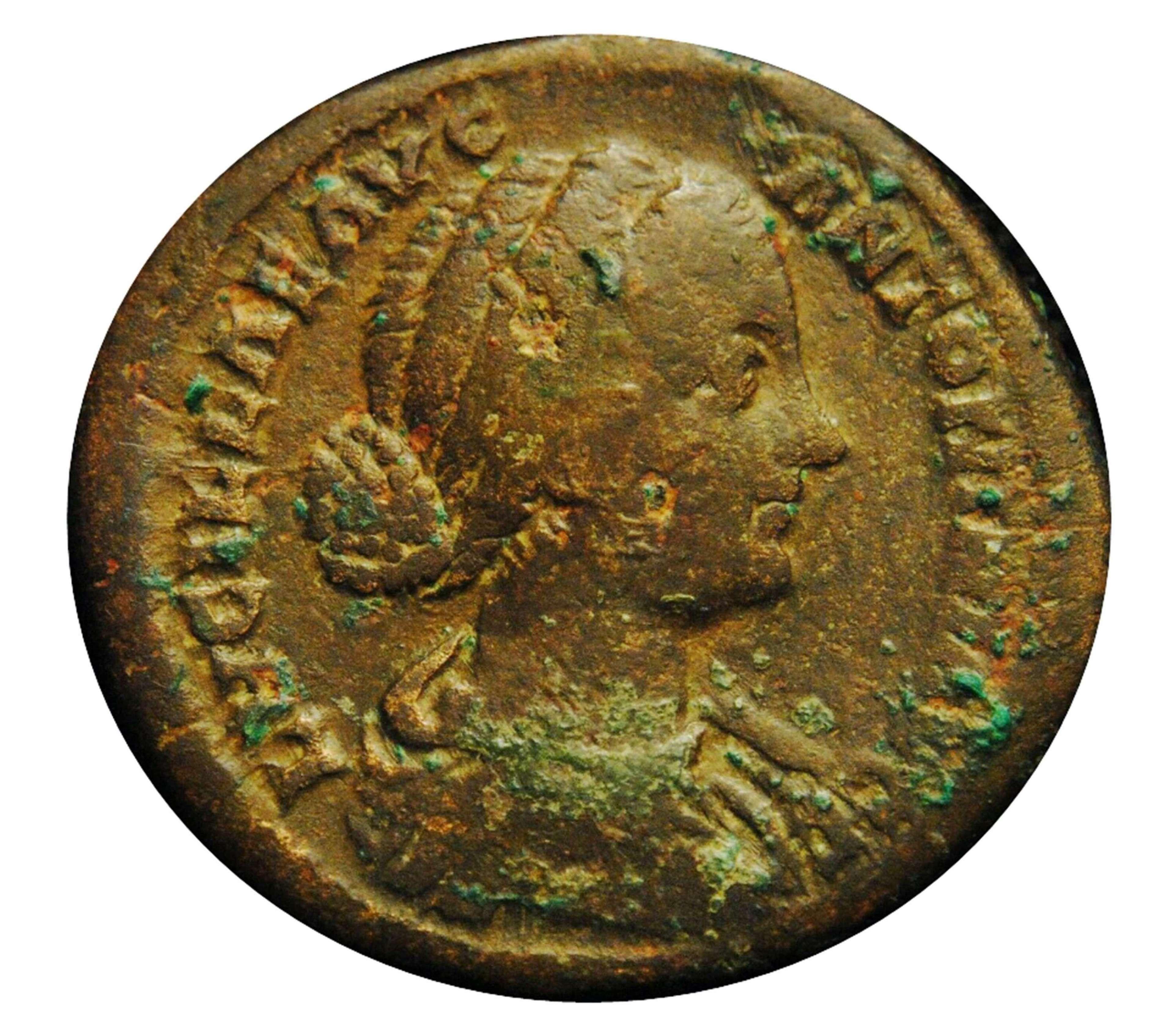 Ancient Roman Æ Sestertius empress Lucilla / Joy