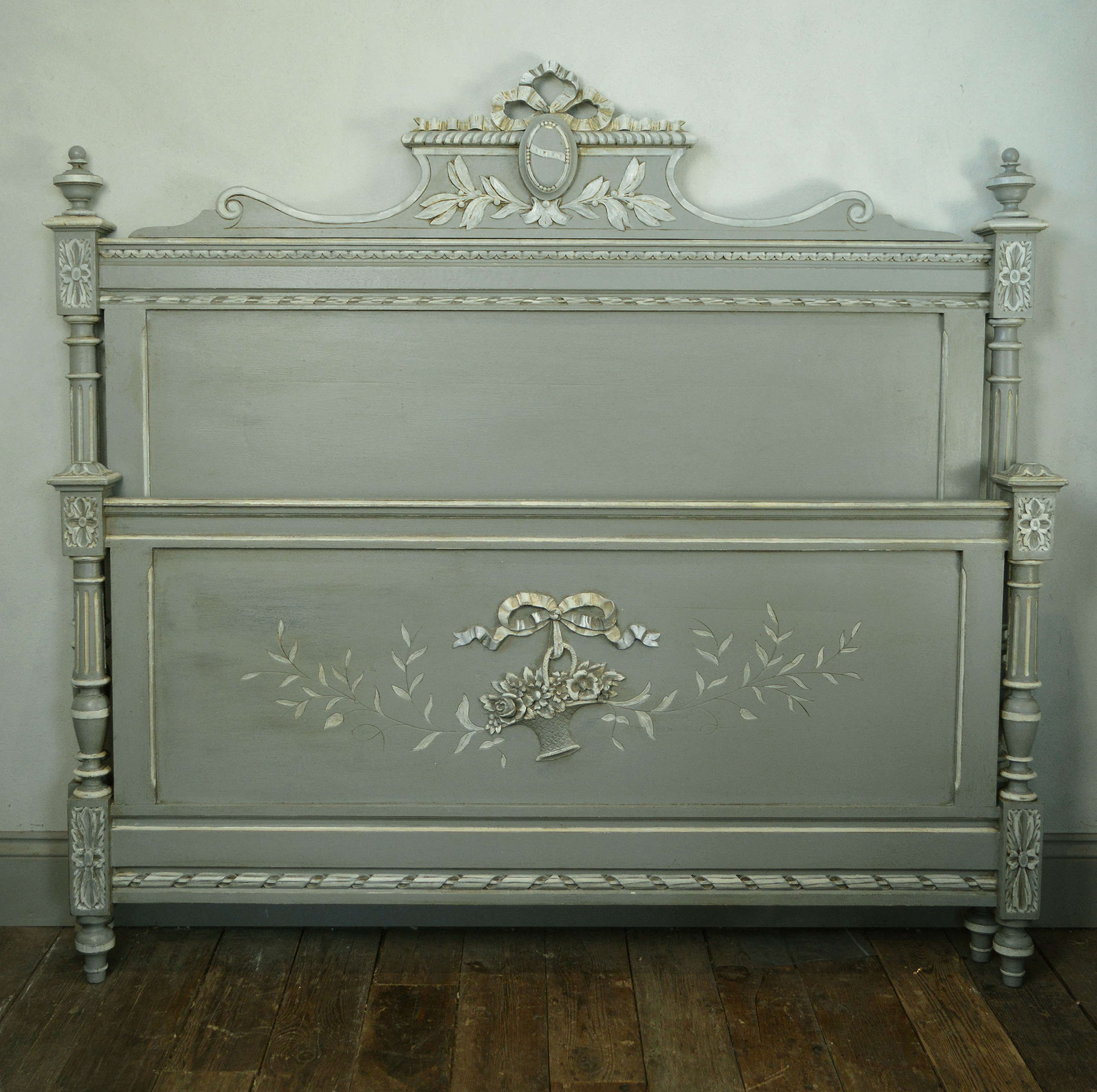 19th Century Henri II style King Size Bedstead