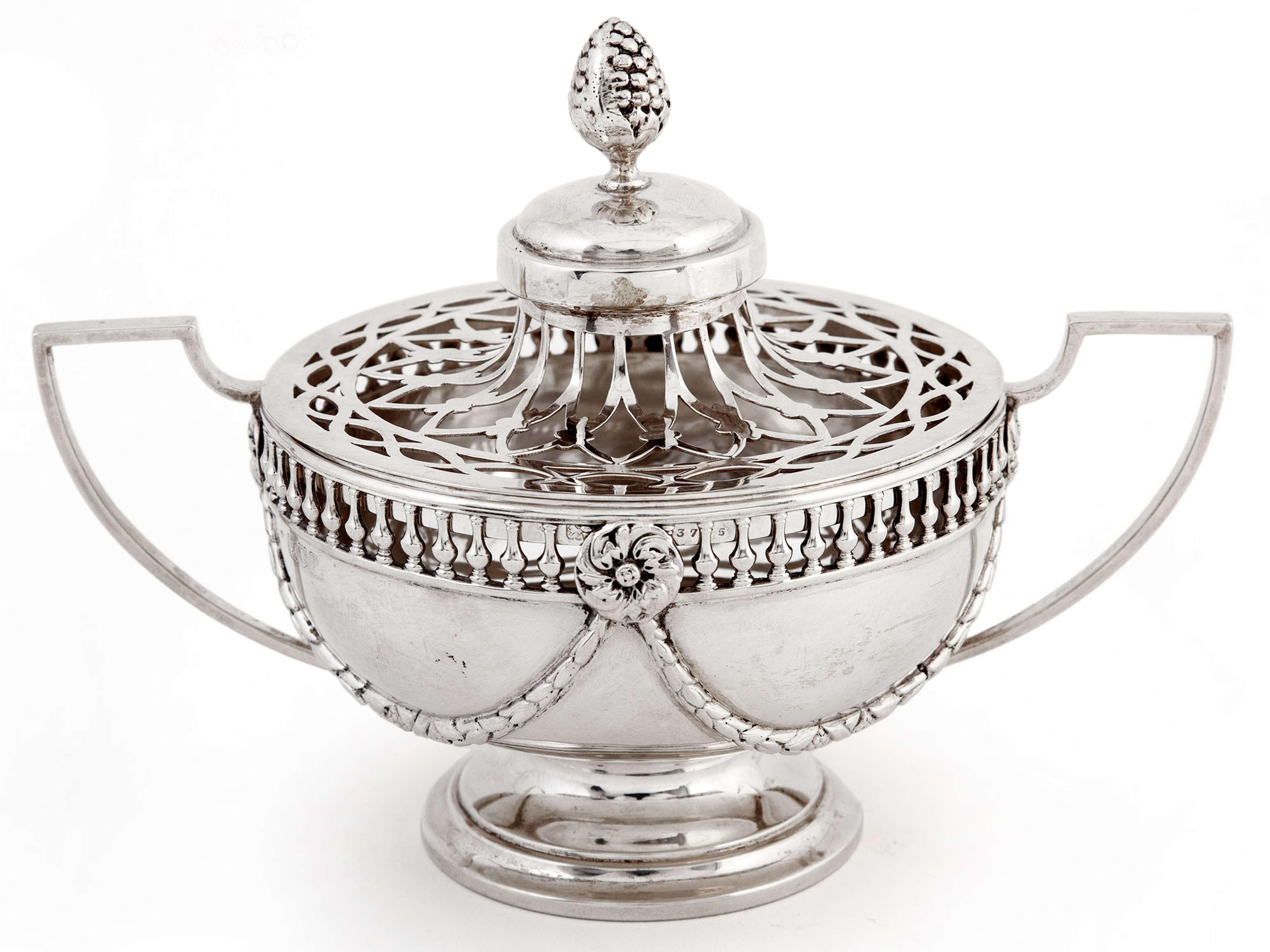 William Comyns Edwardian Silver Potpourri Bowl