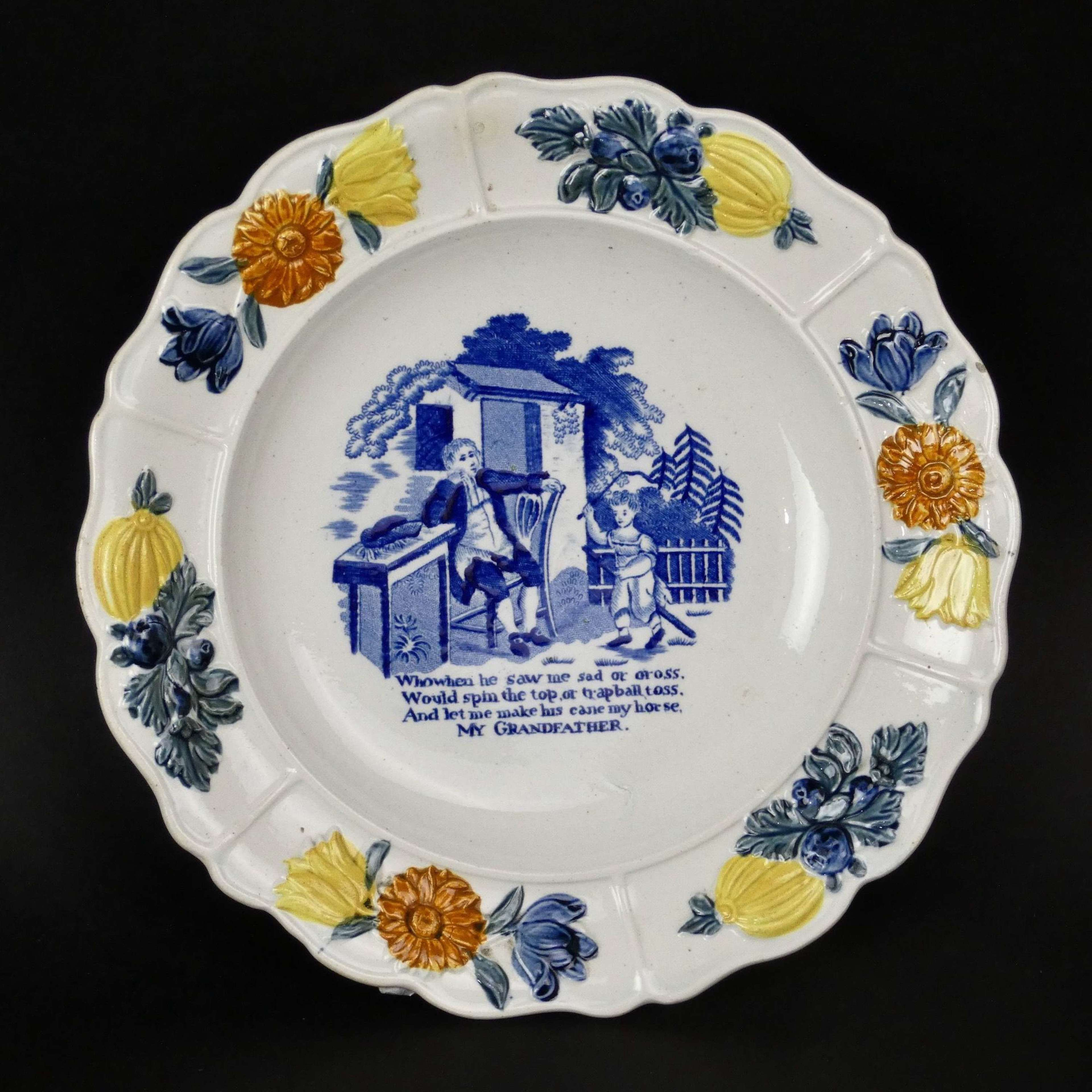 Child's plate with verse