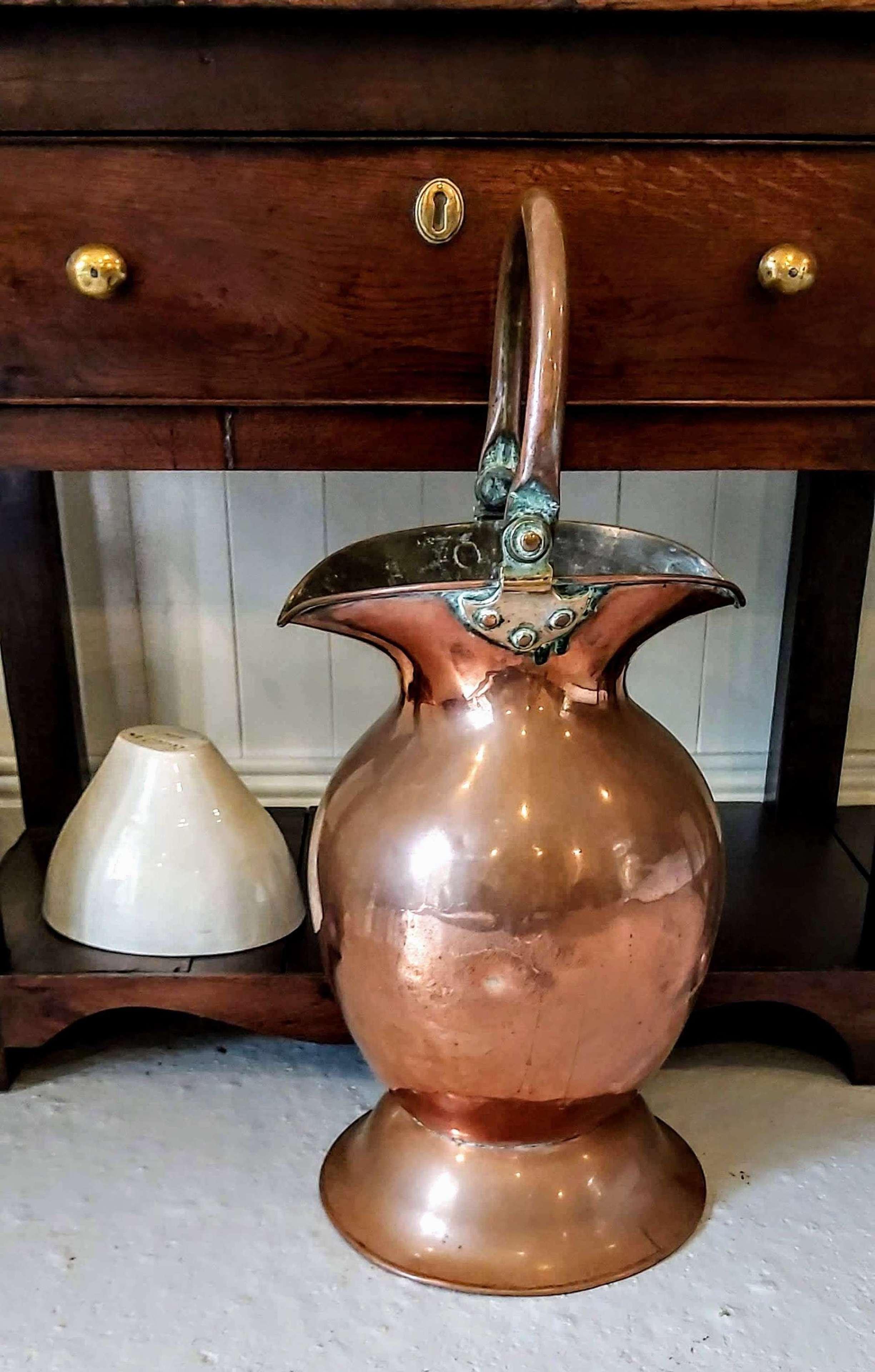 Antique Copper Vessel with double spout