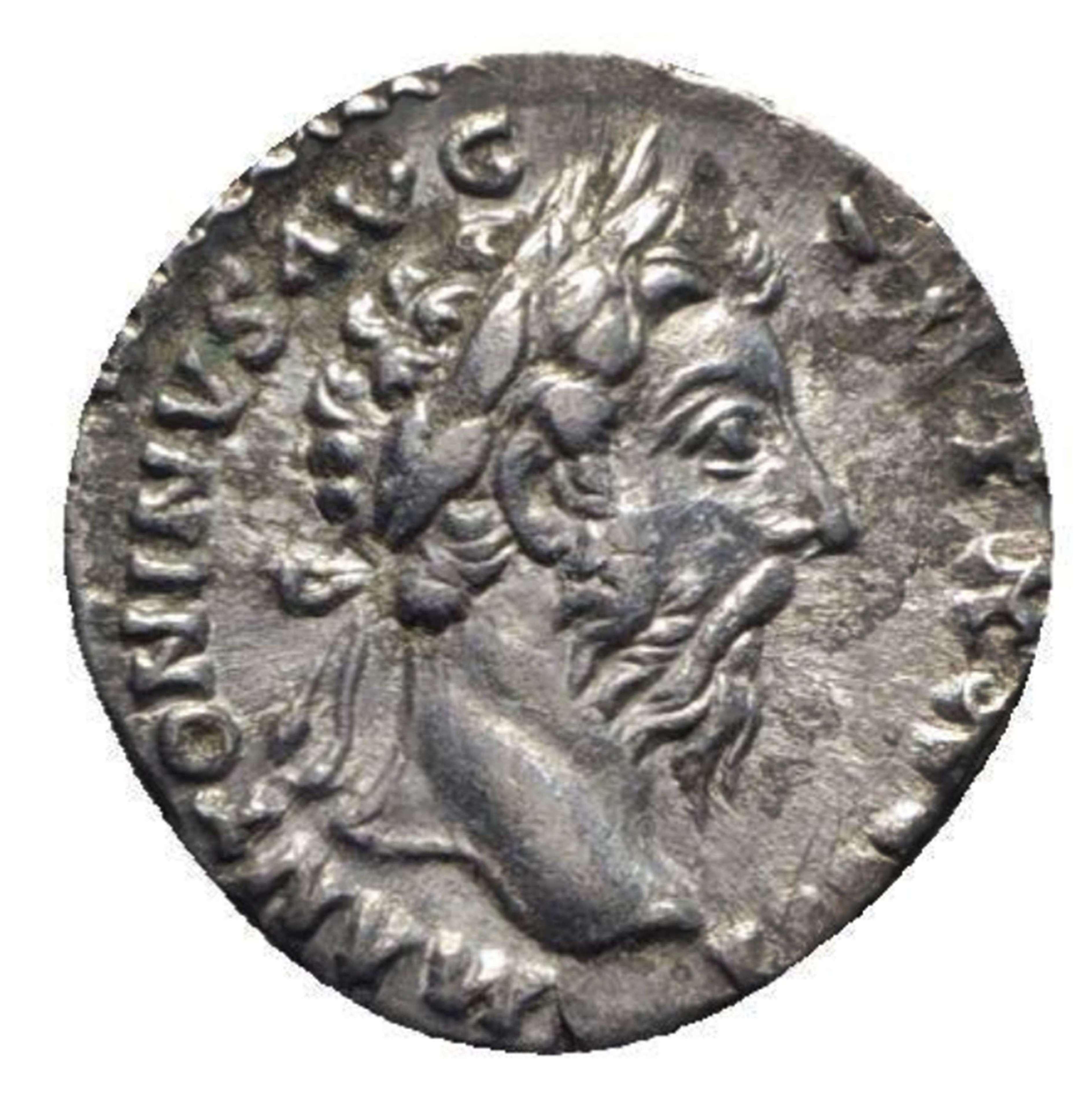 Ancient Roman Silver Denarius of Emperor Marcus Aurelius / Health