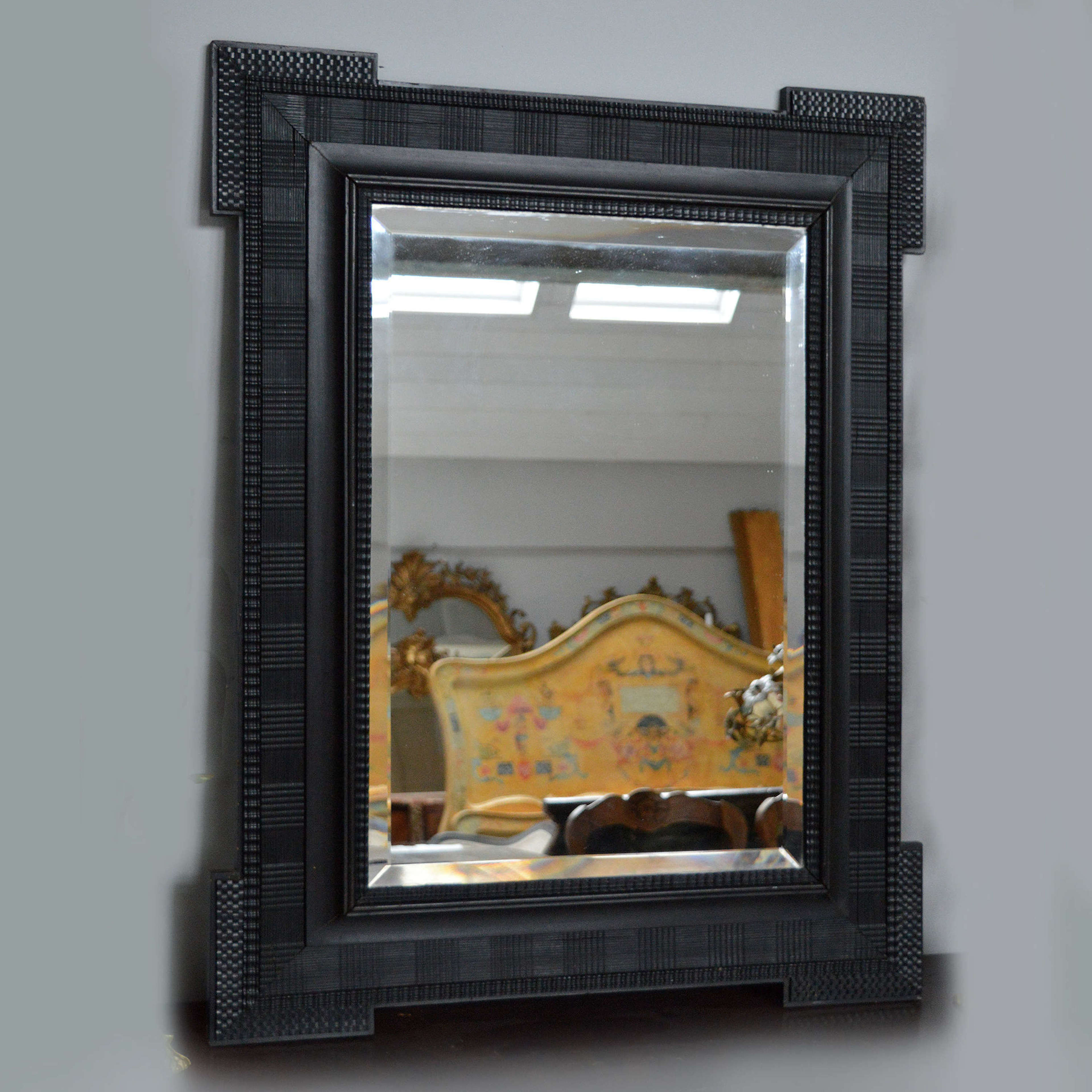 19th Century Dutch Ripple frame mirror