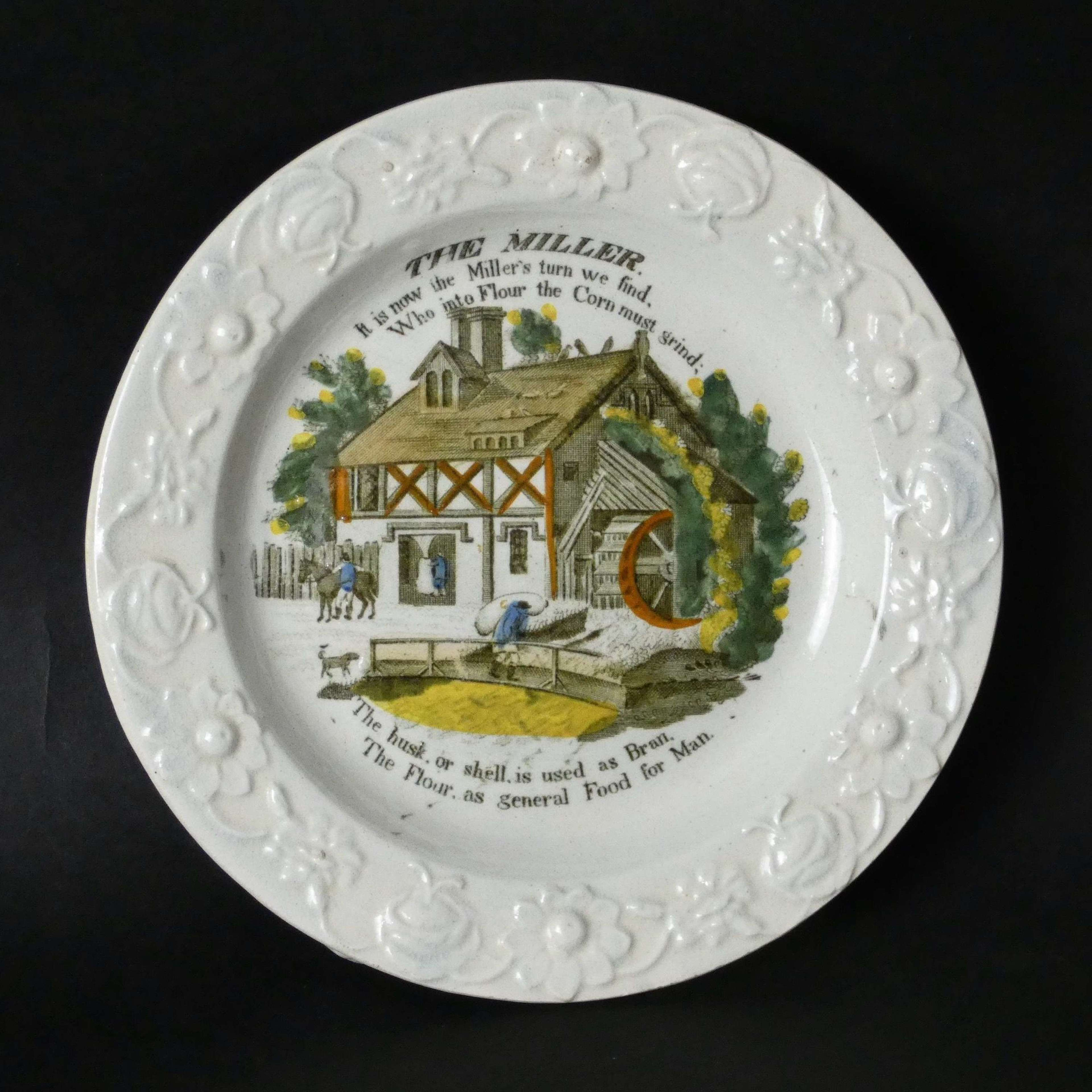 Child's plate printed with