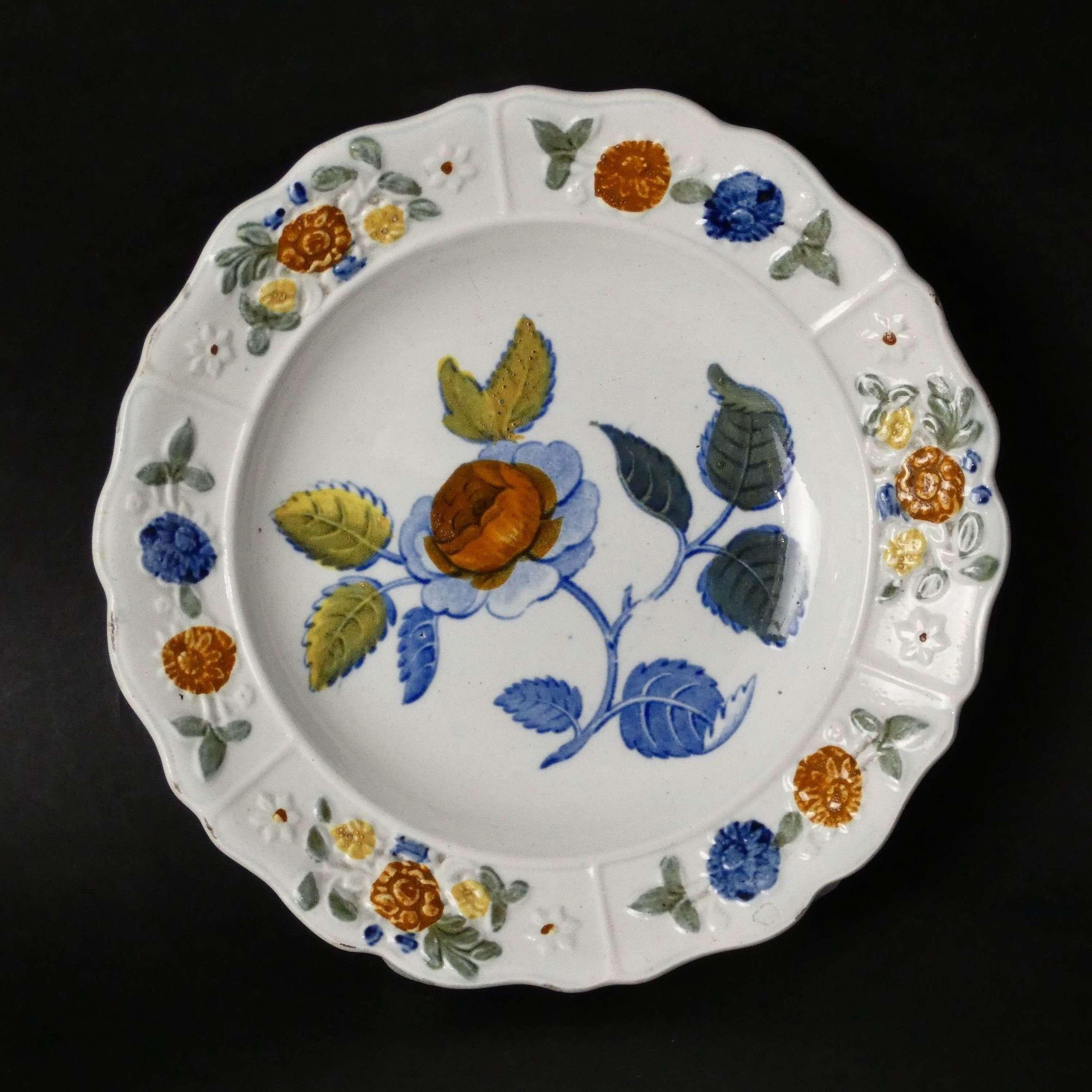 Prattware child's plate