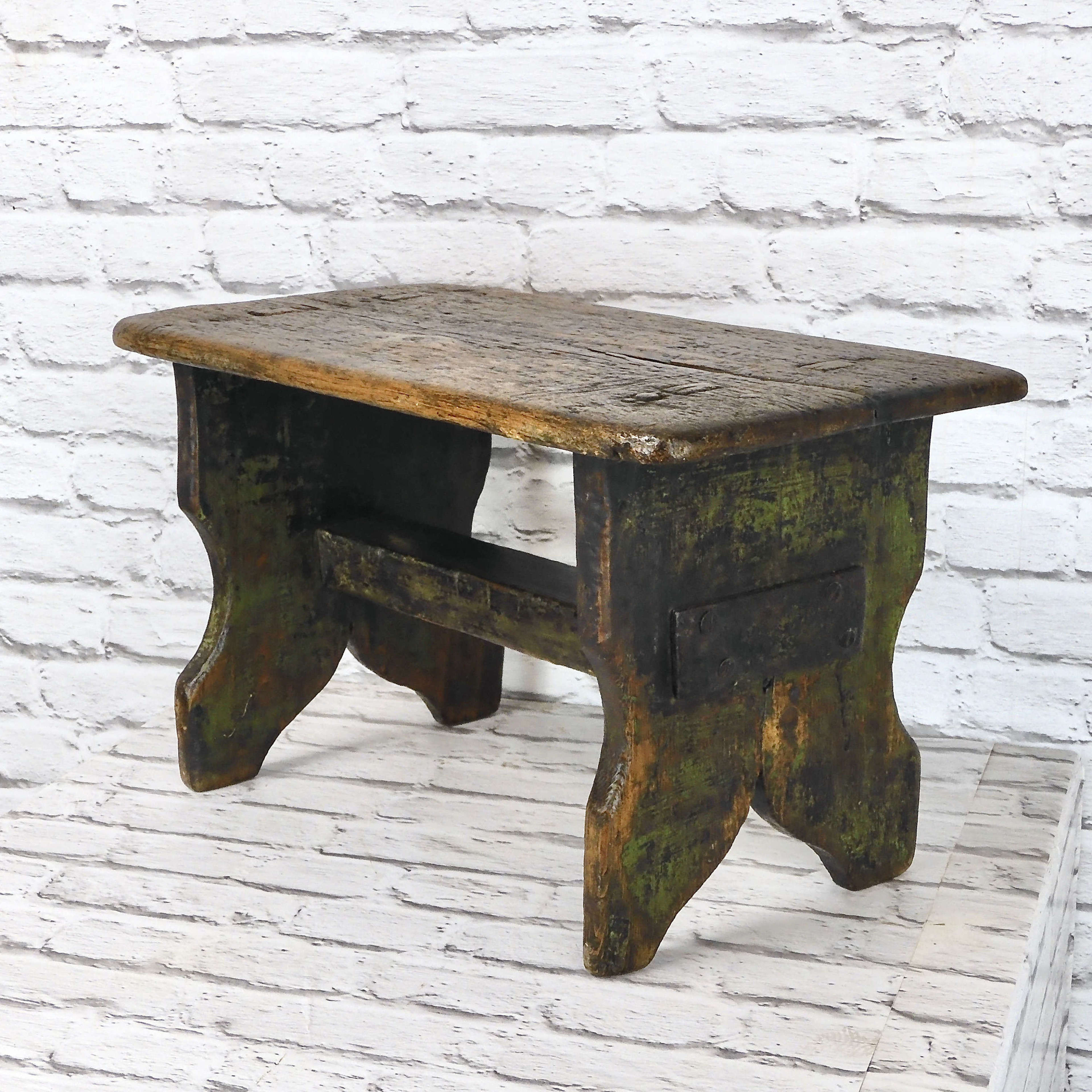 Painted Bench Stool