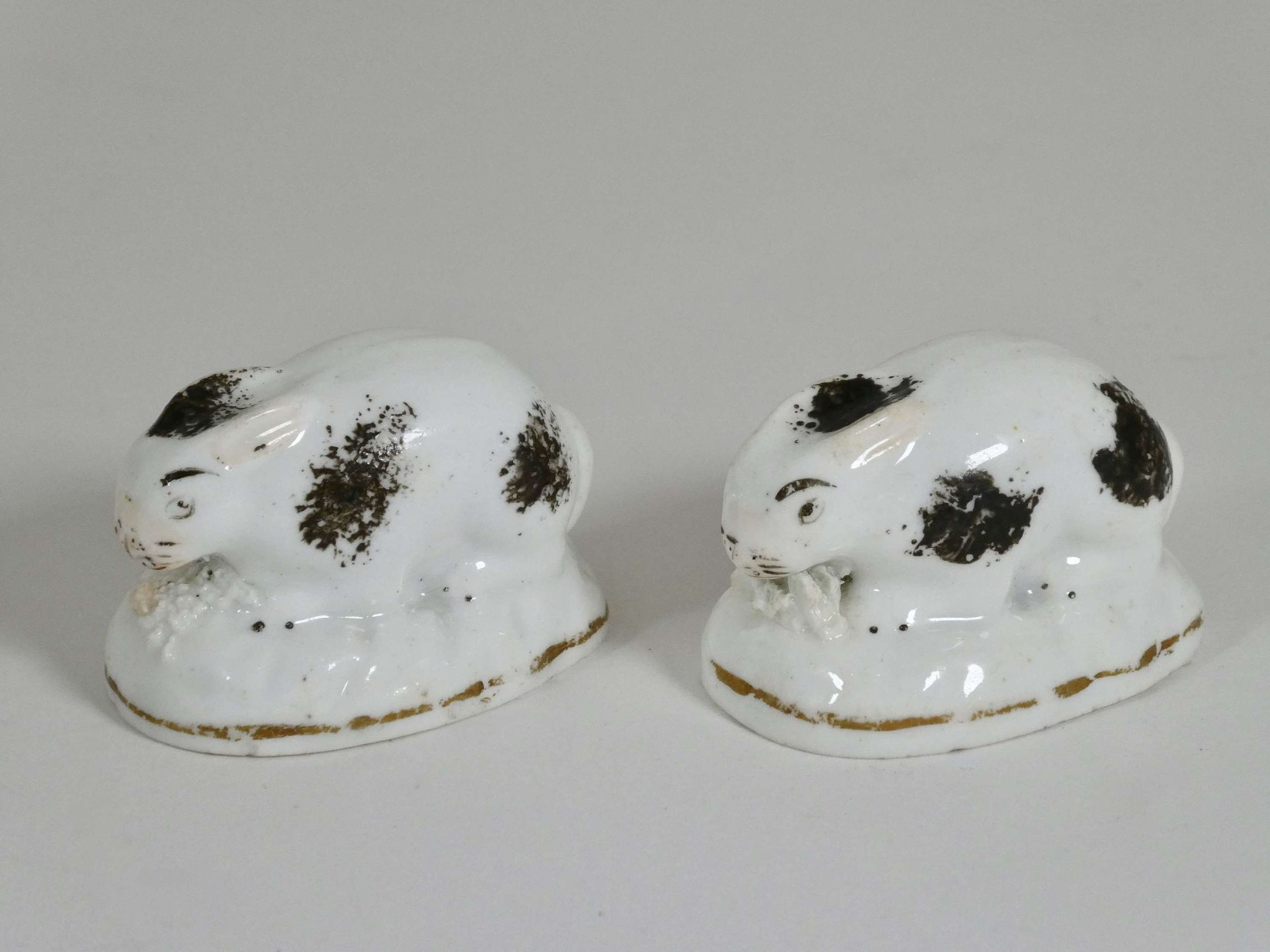 Pair of Miniature Rabbits, circa 1840