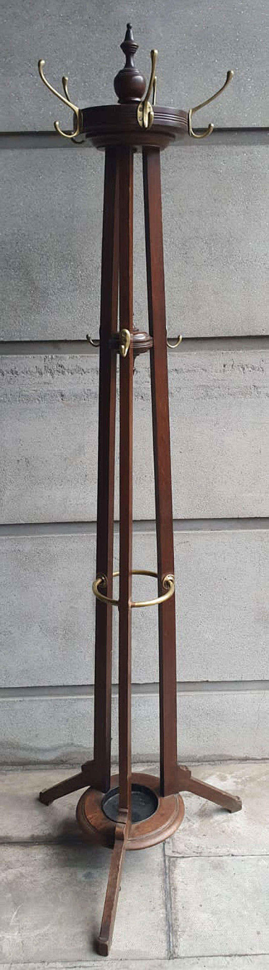 Late 19th Century Oak Hat and Coat Stand