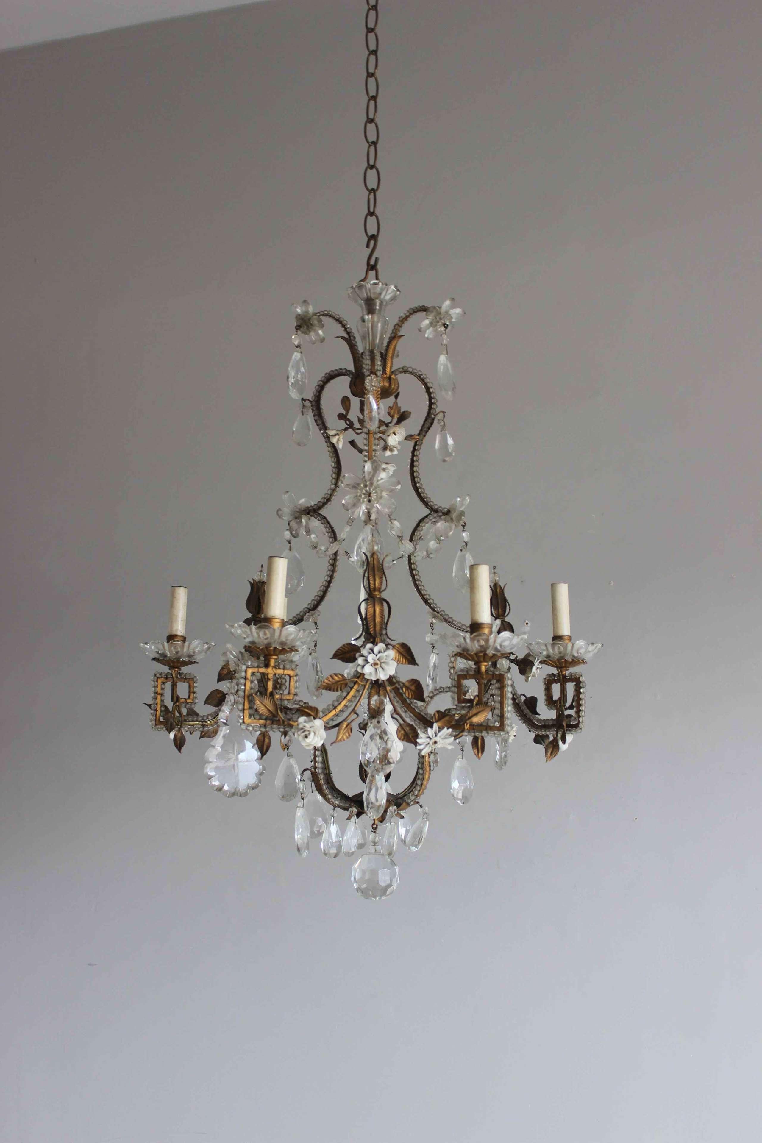 Italian beaded chandelier