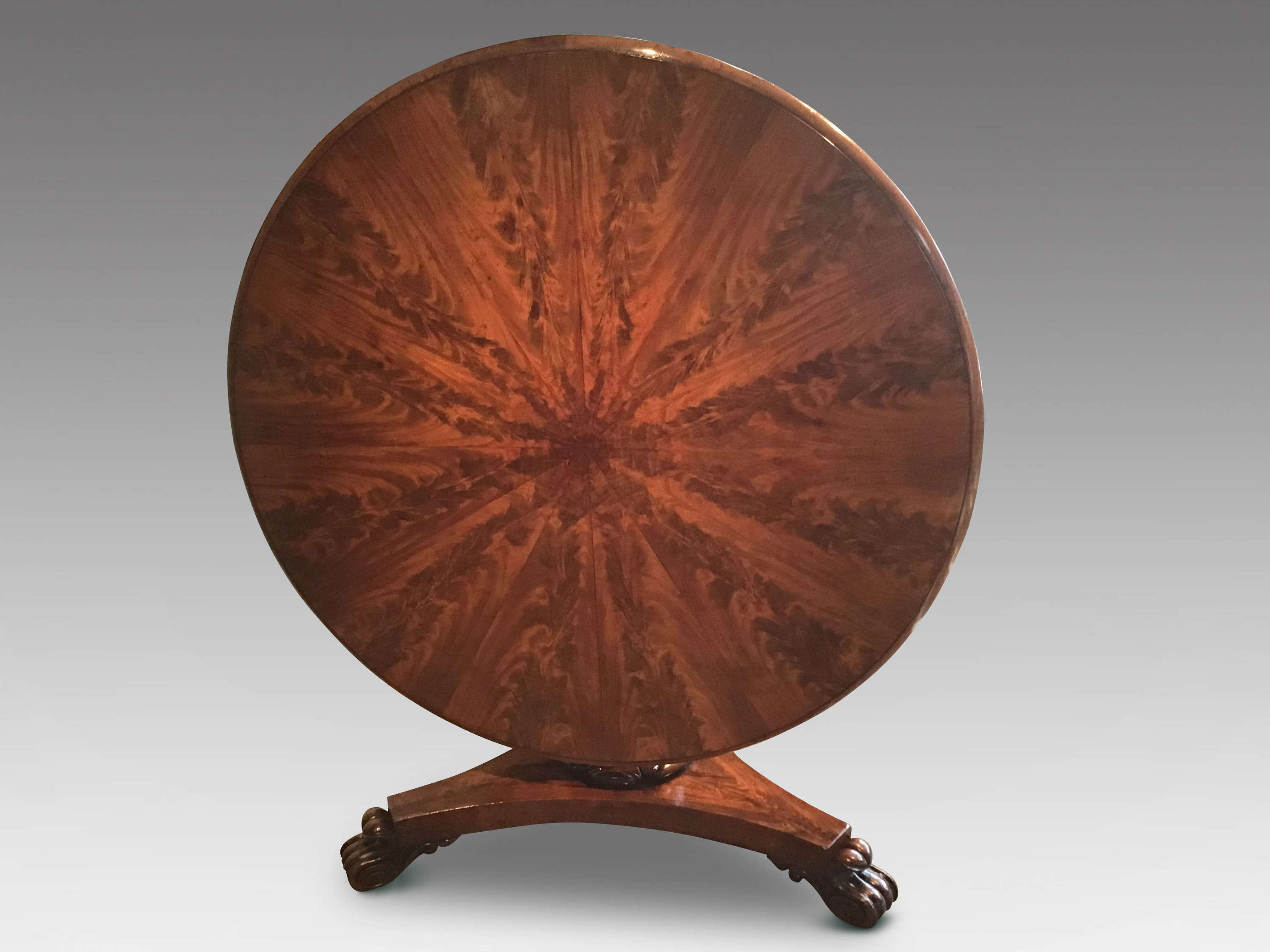 William IV mahogany centre table