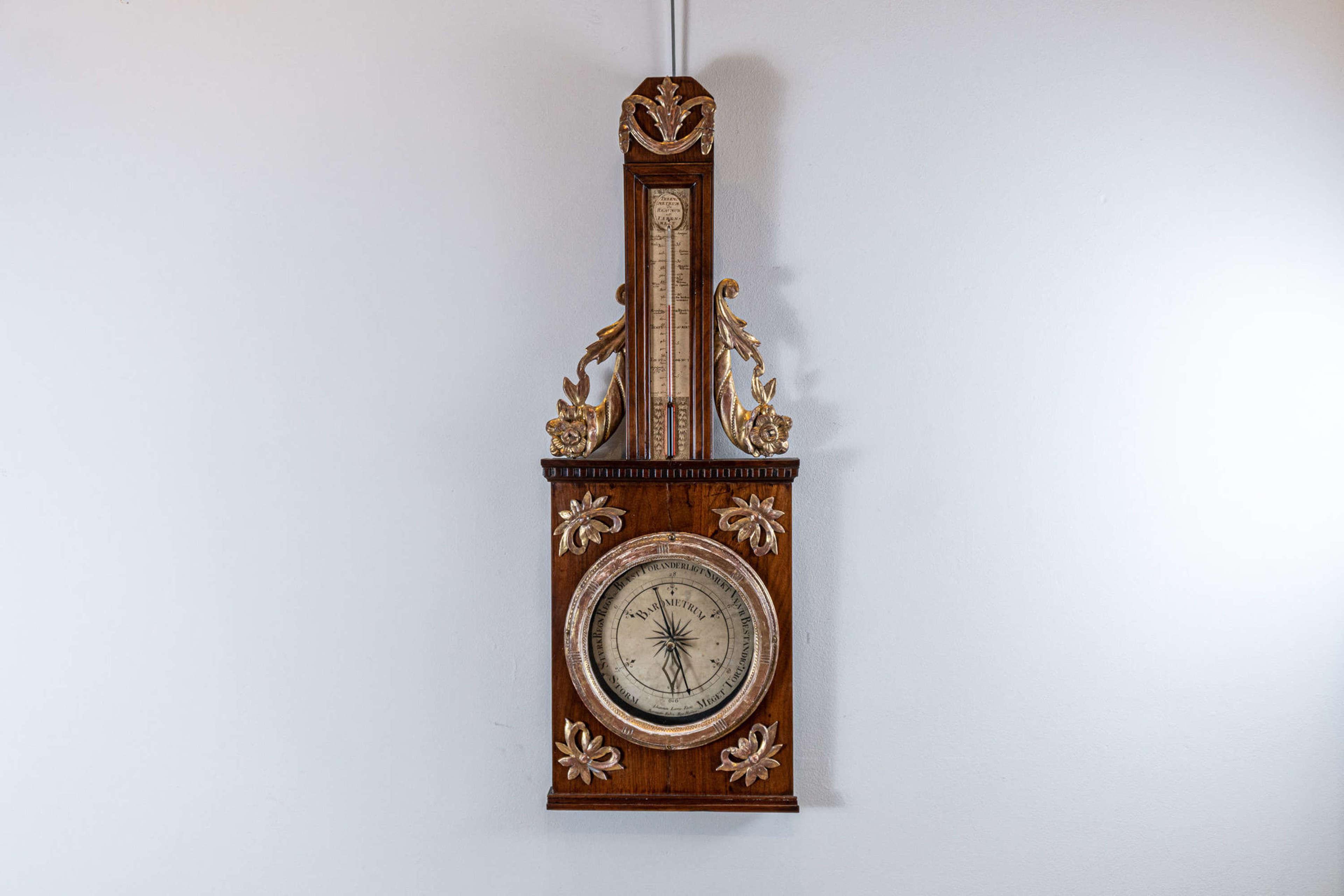 Circa 1800 Swedish Barometer