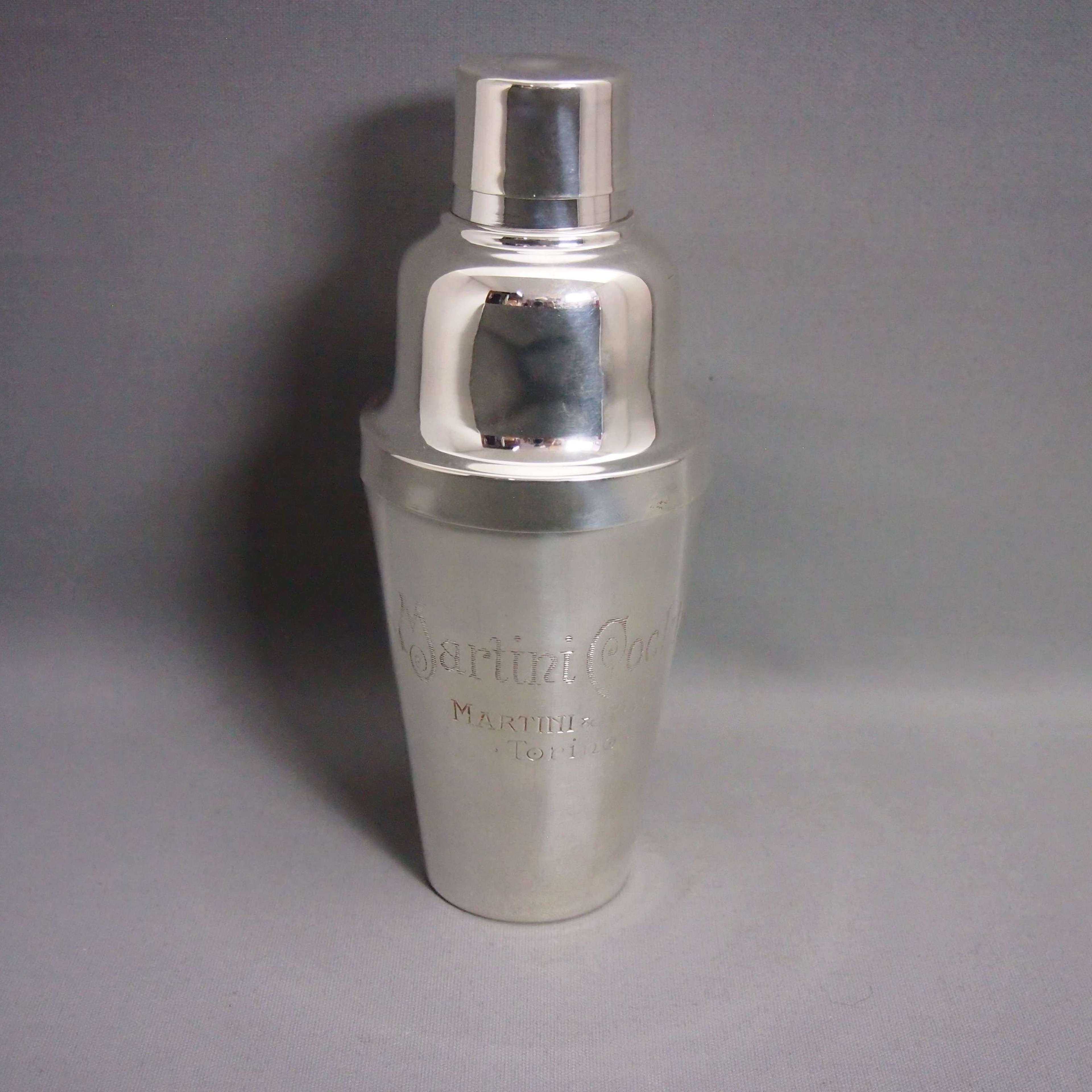 Silver Plated Vintage Martini Cocktail Shaker W8672.