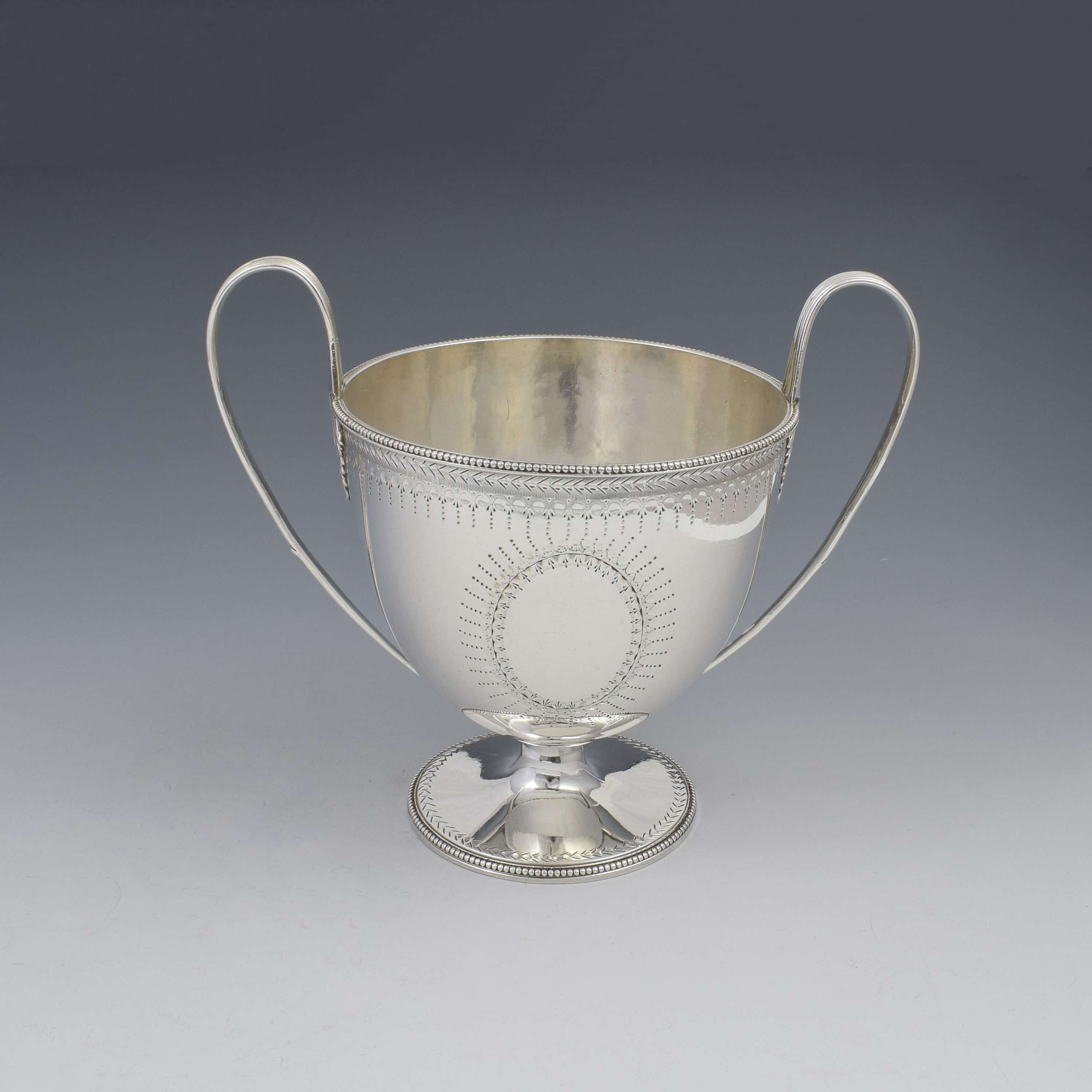 George III Silver Trophy Loving Cup Abraham Peterson & Peter Podio