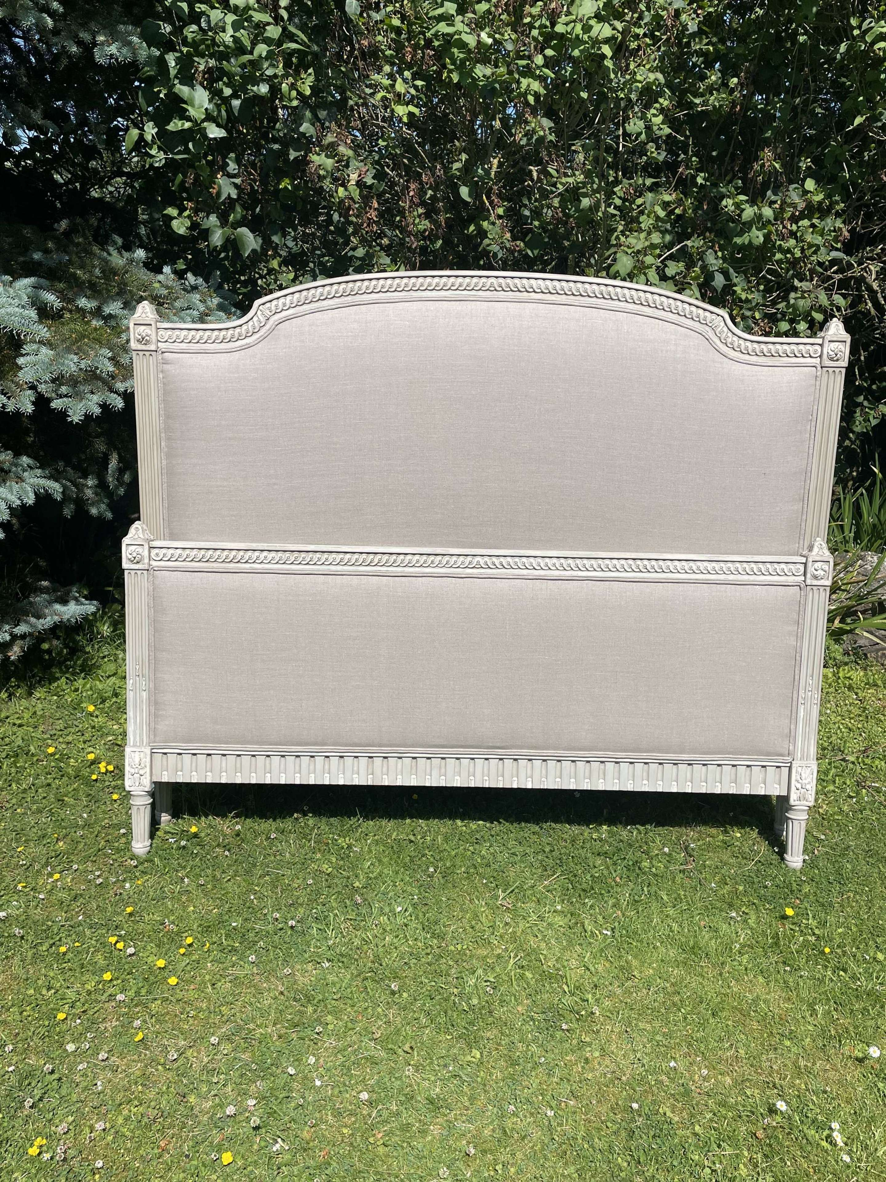 Pretty Painted French Kingsize Bed