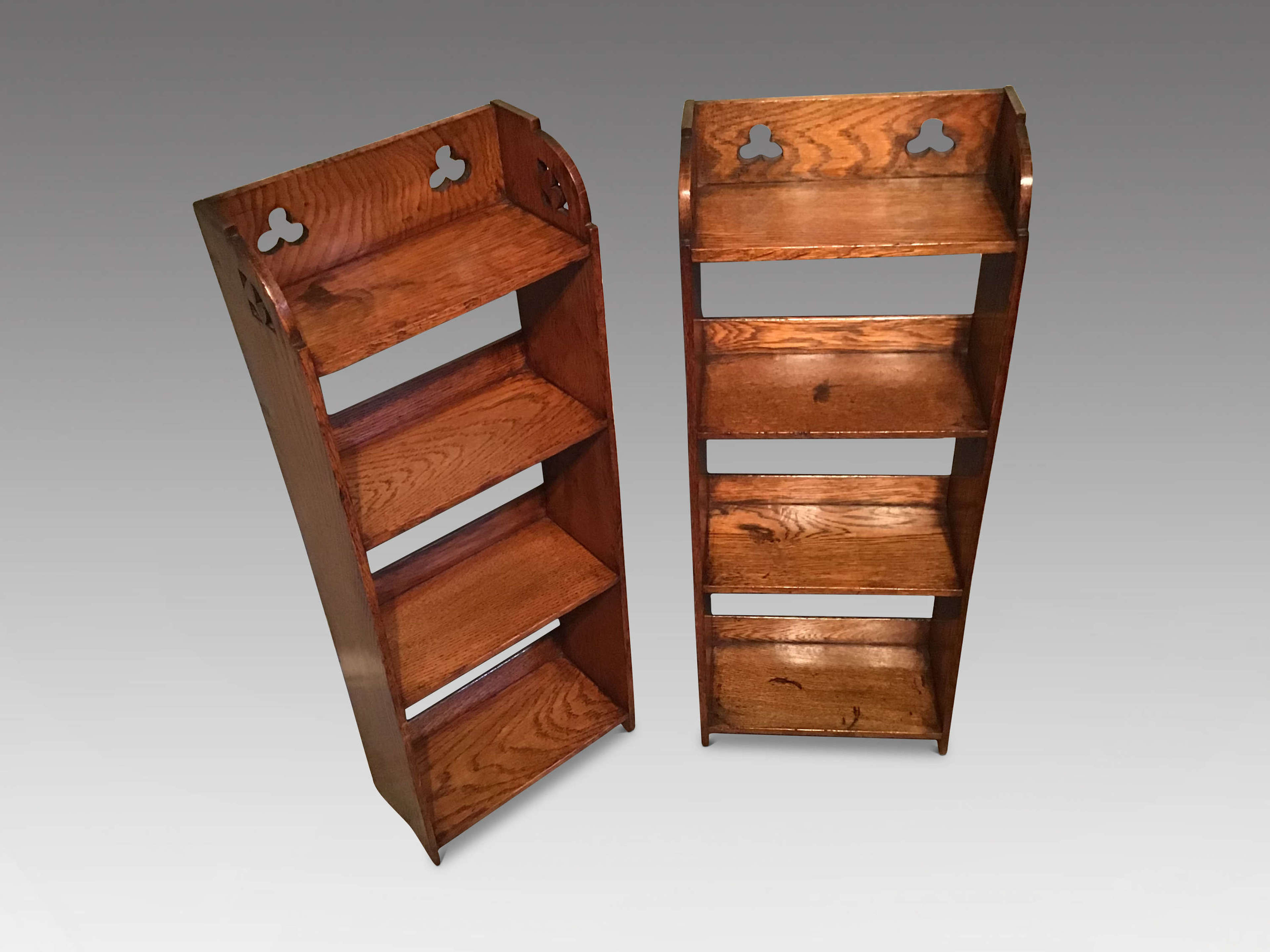 Arts and Crafts oak bookcases
