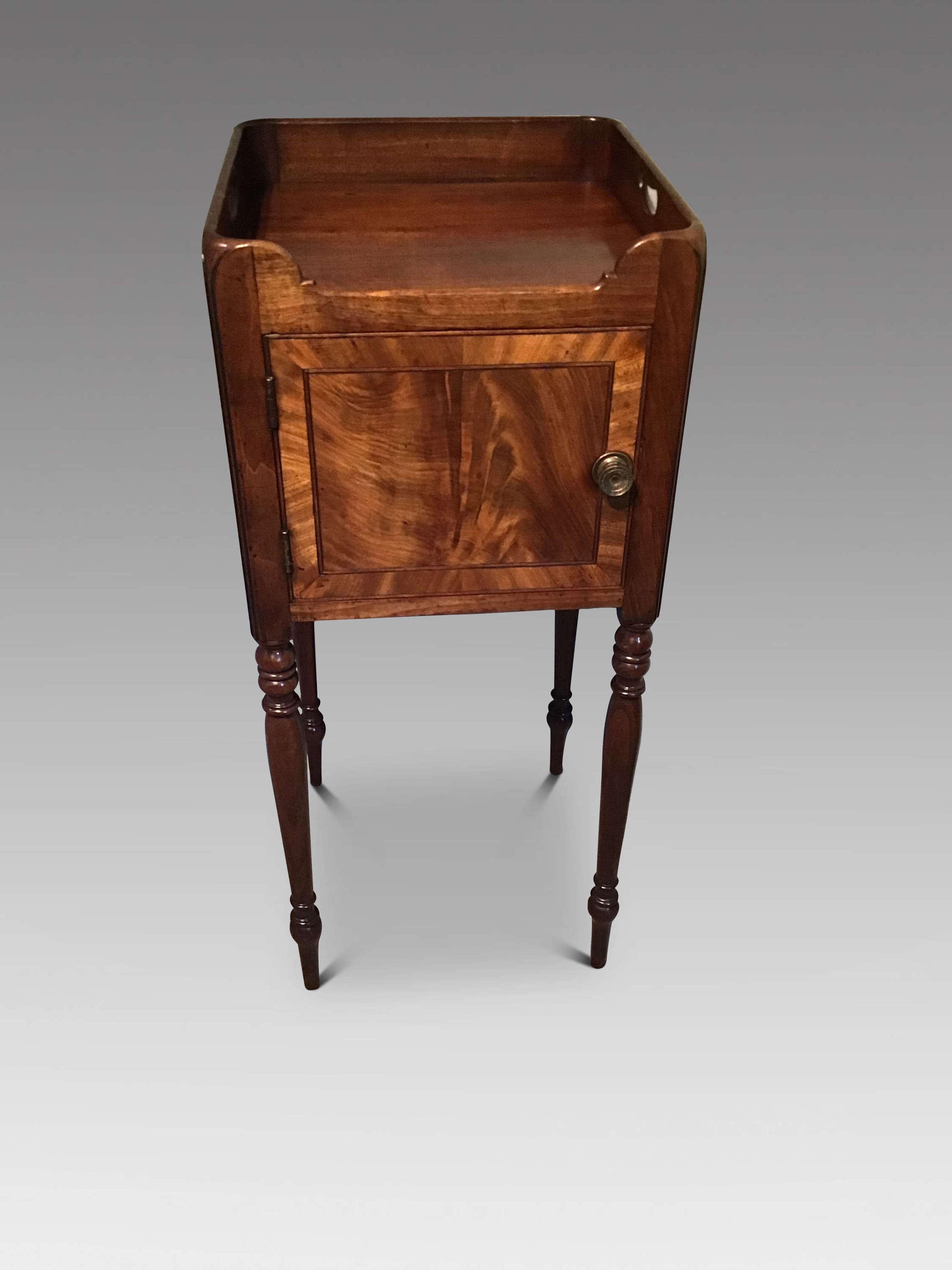 Antique mahogany bedside cabinet
