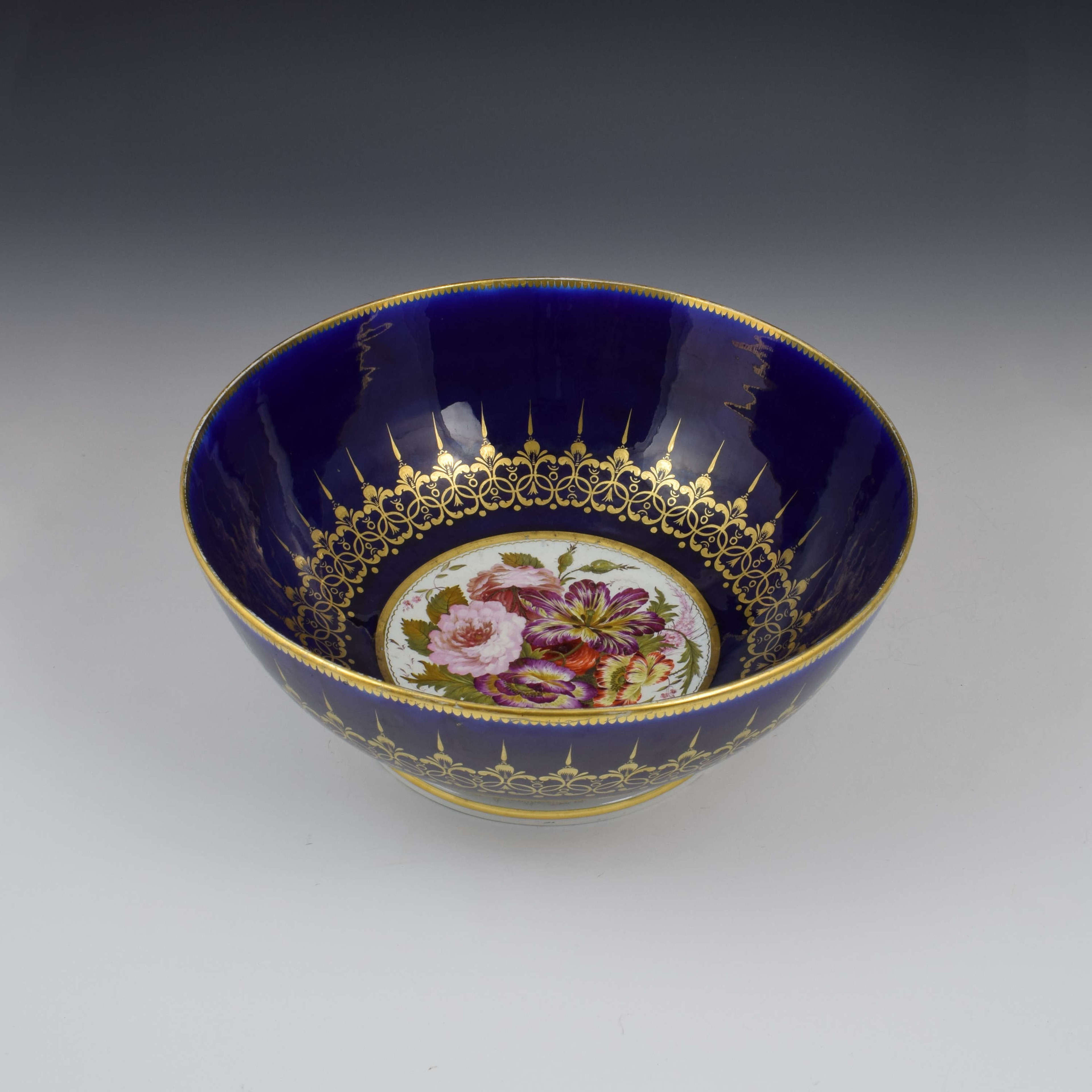 Large Chamberlain Worcester Porcelain Punch Bowl c.1816-1820