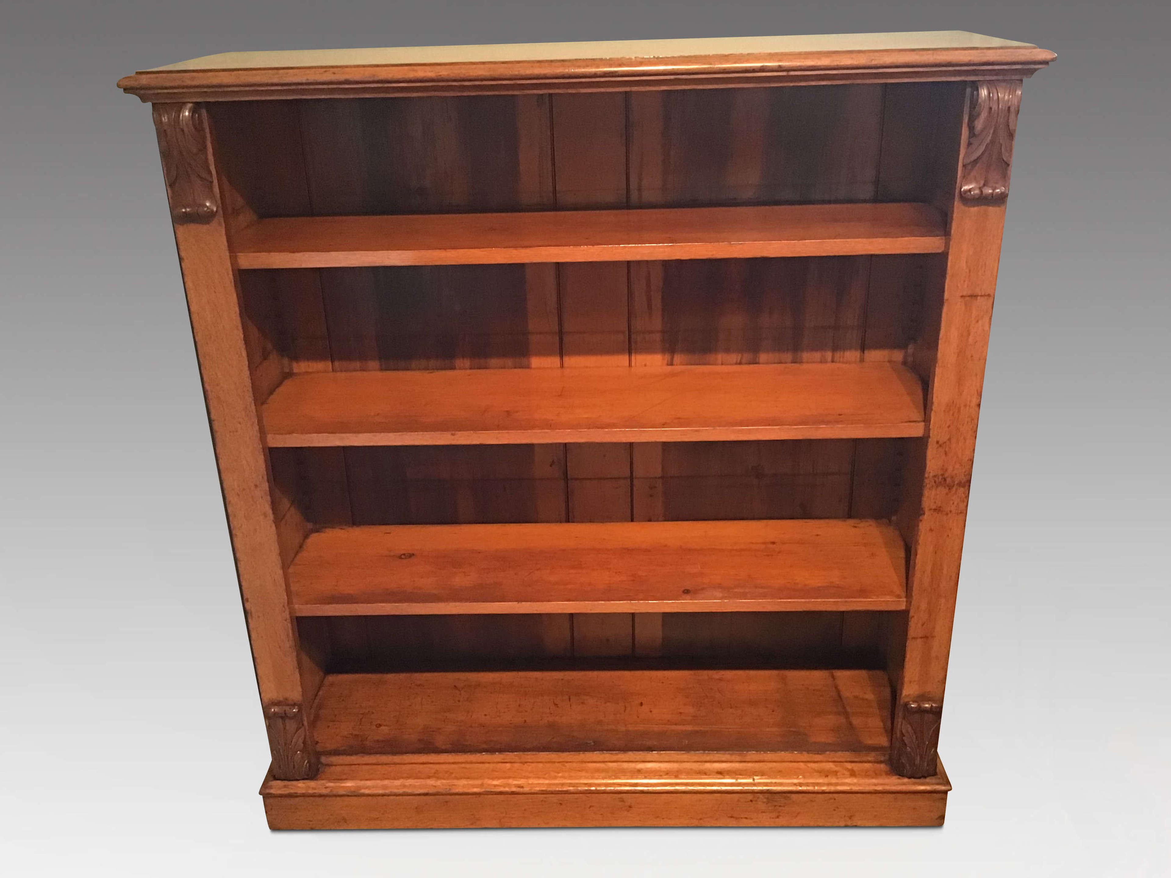 Antique open bookcase