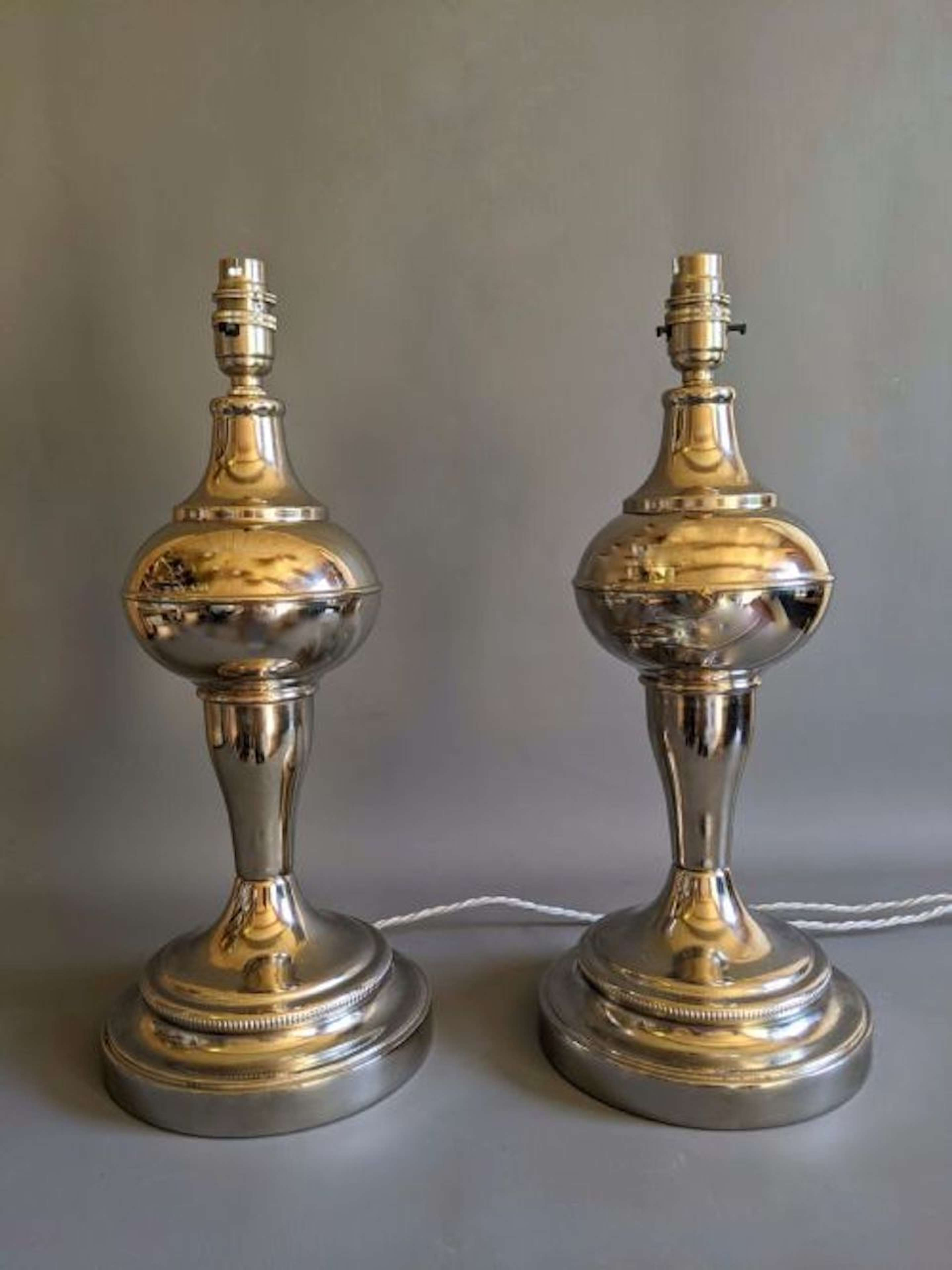 Unique Pair of Early 20th Century Table Lamps