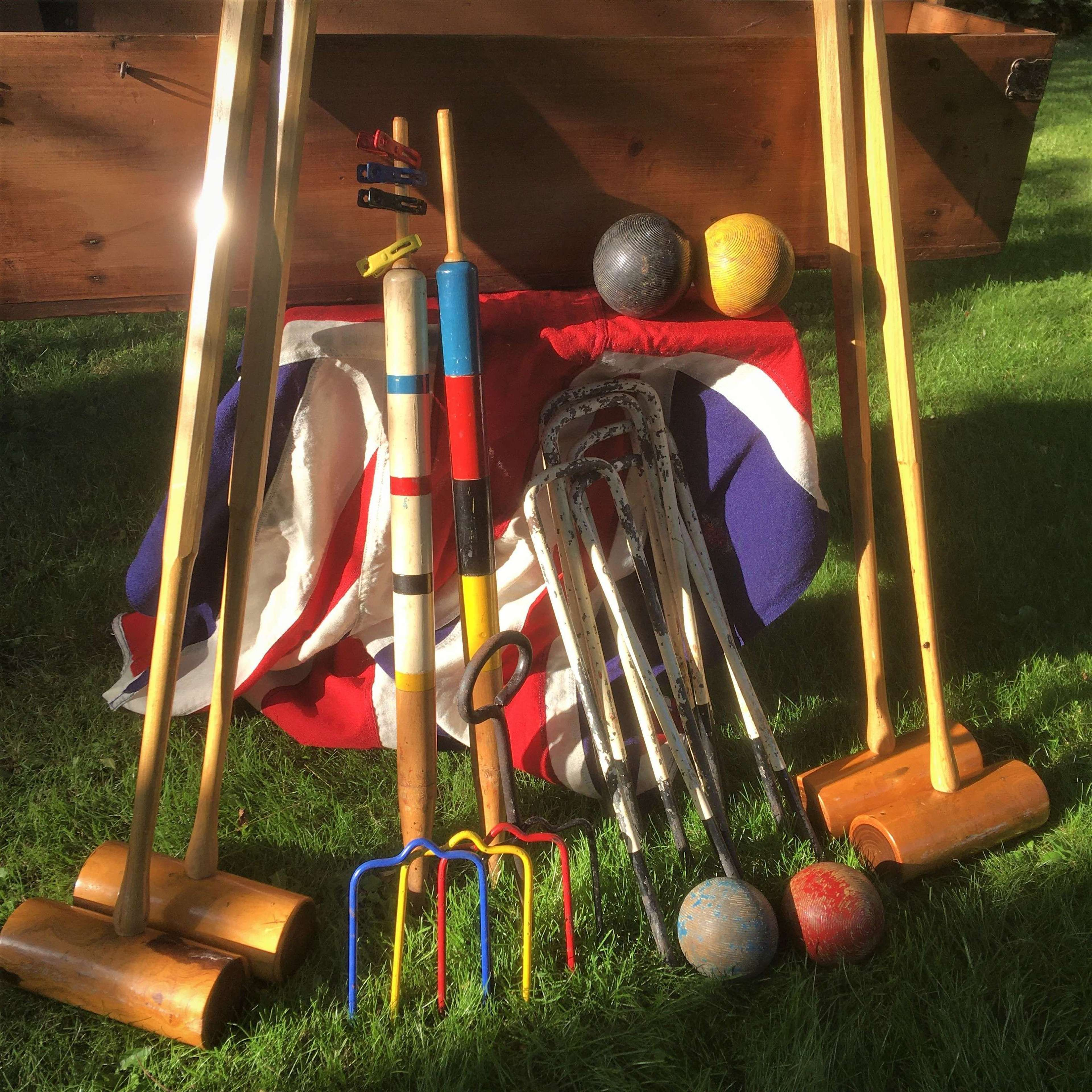 An Excellent & Extensive Croquet Set for Four (4), of Superior Quality