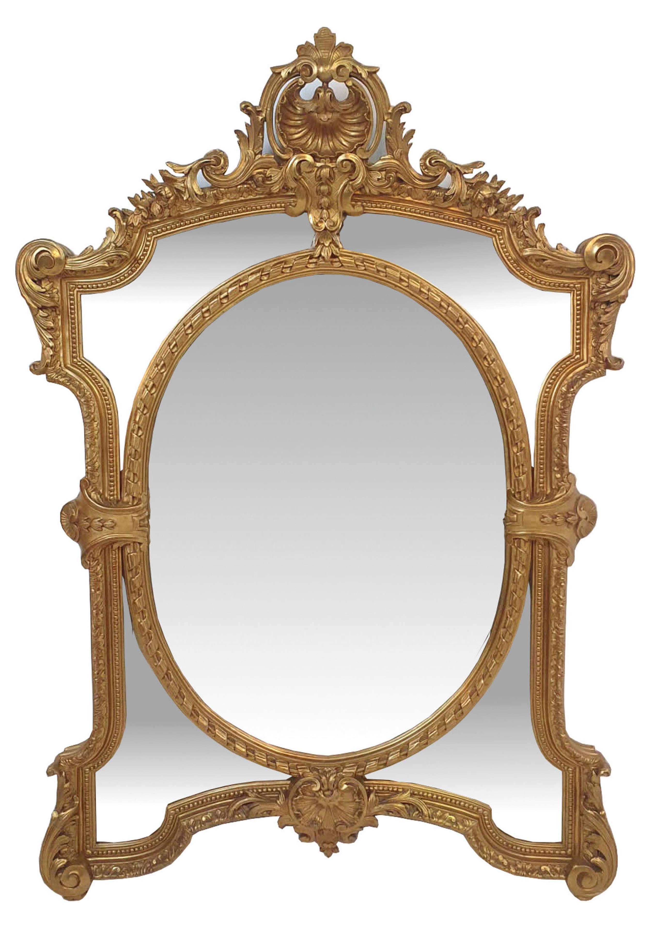 19th Century Gilt Framed Margin Mirror