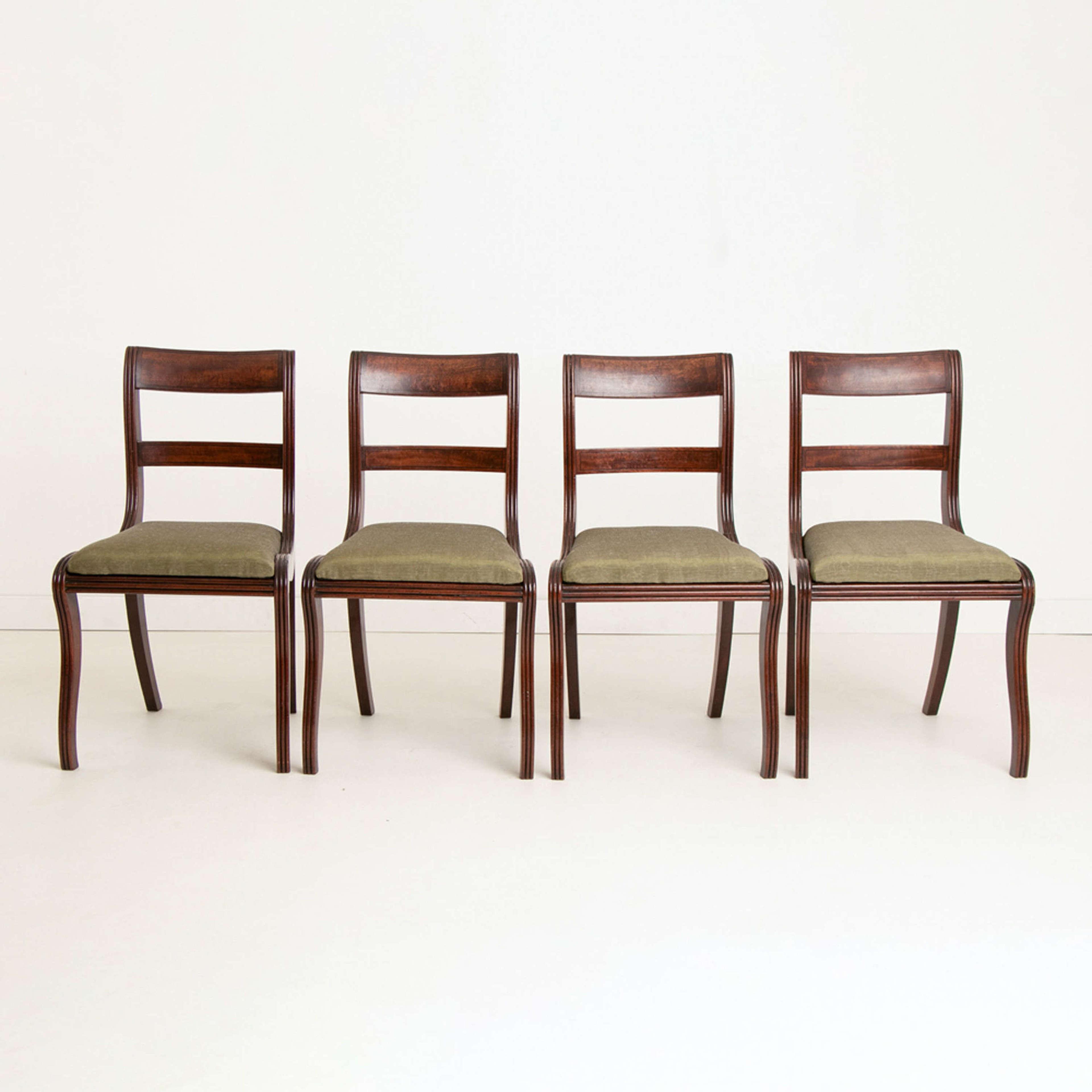 Set of Four Georgian mahogany Dining Chairs