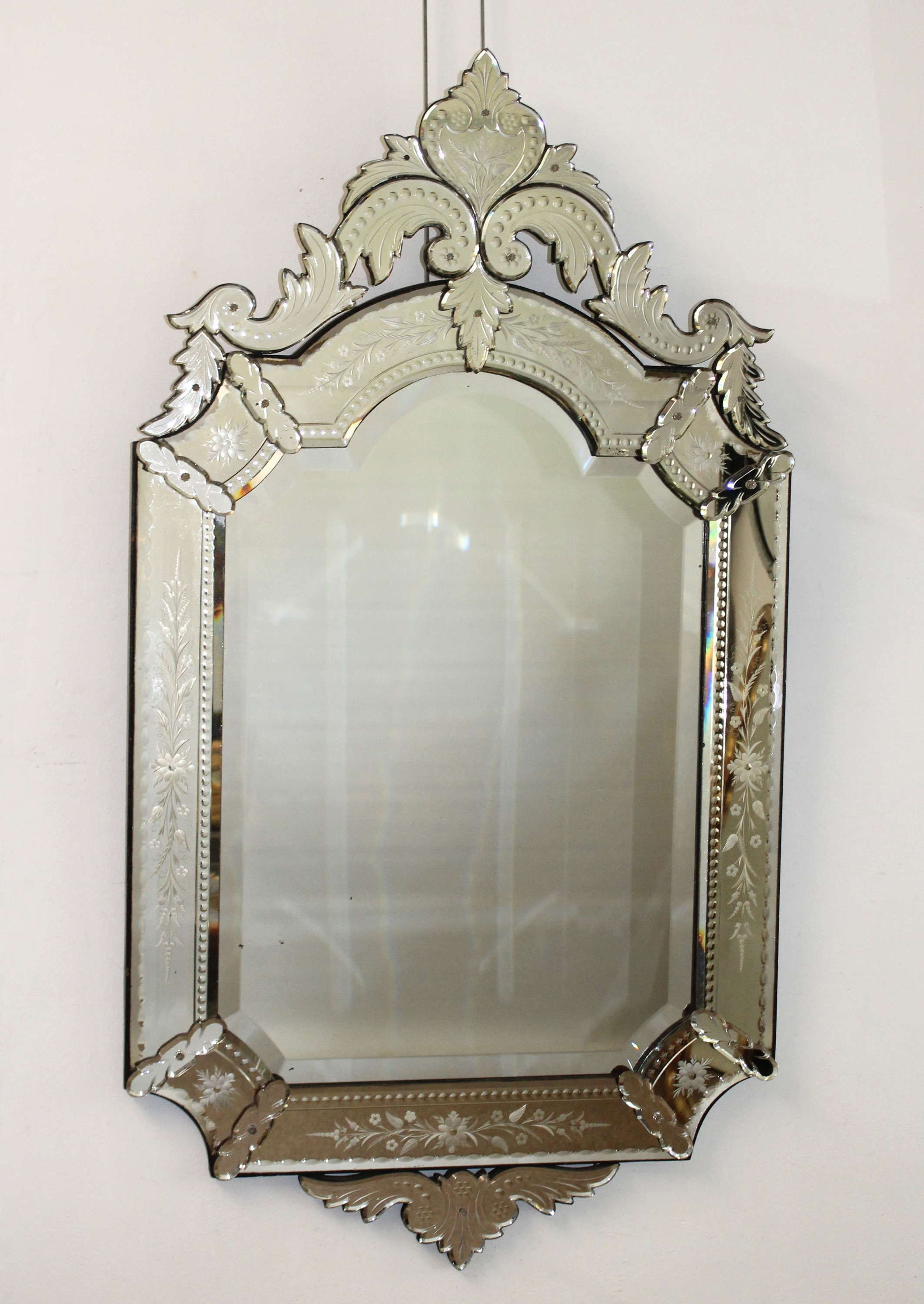 Decorative, portrait, antique Venetian mirror