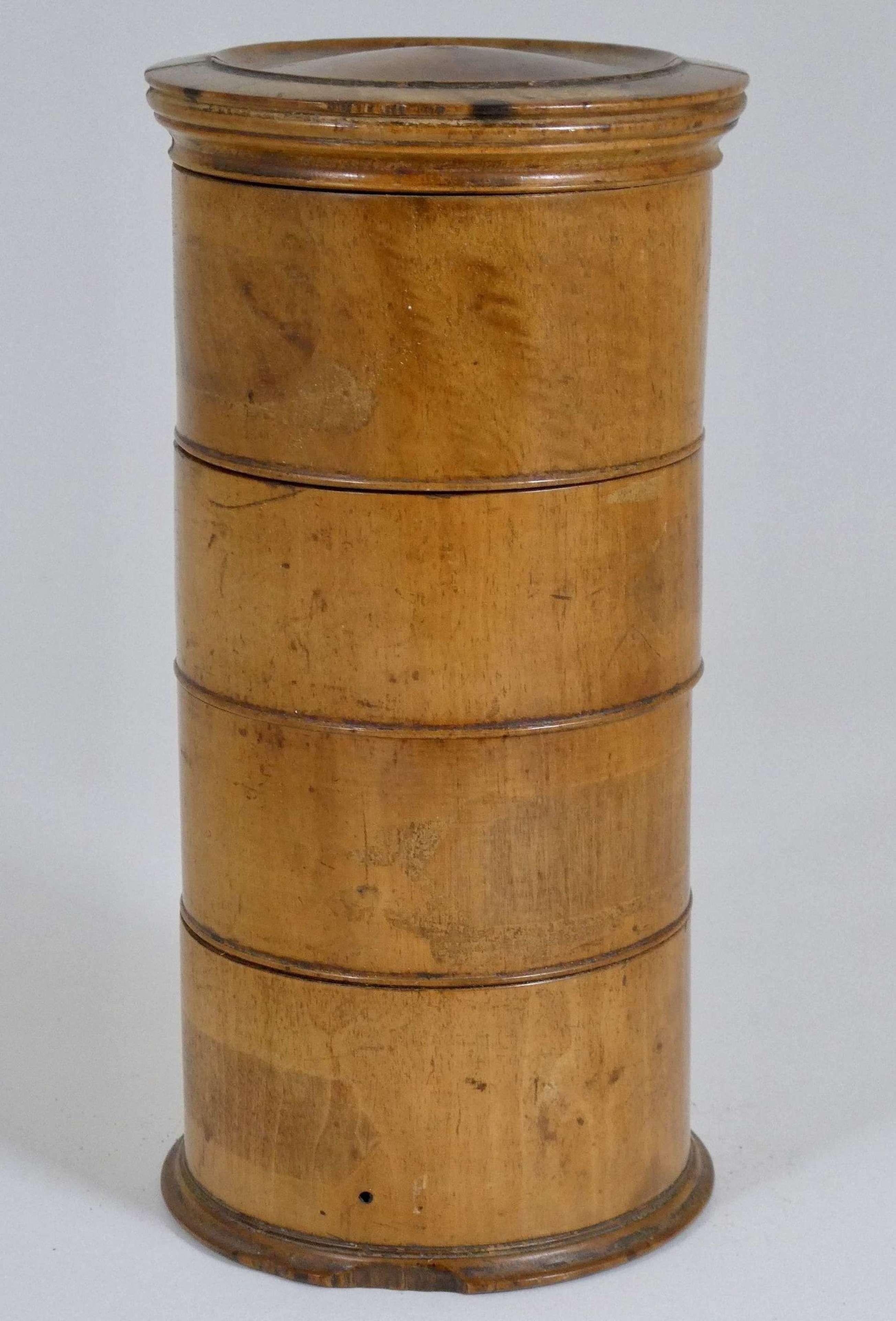Treen Spice Tower, circa 1840