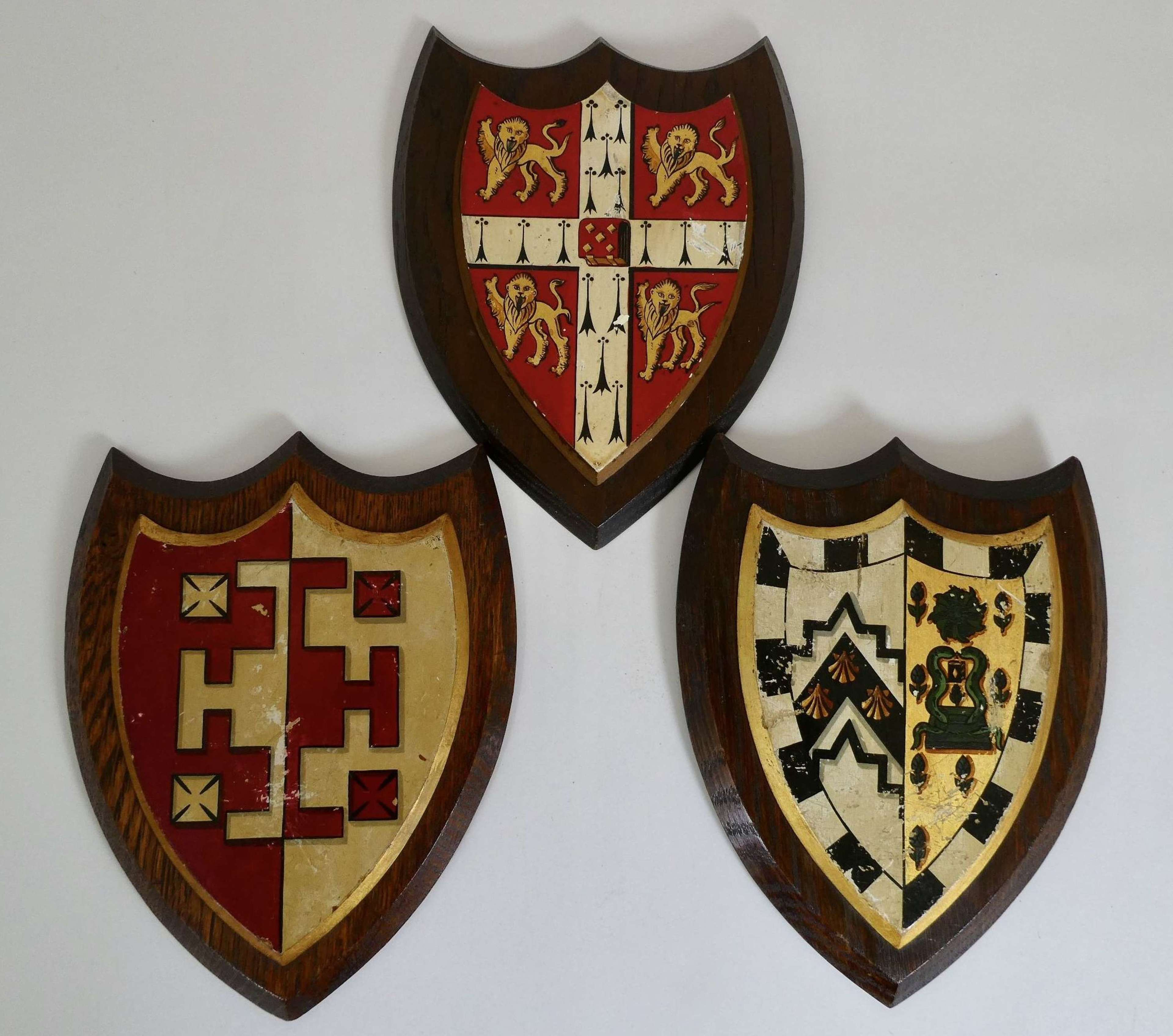 Three Heraldic Shields, circa 1930