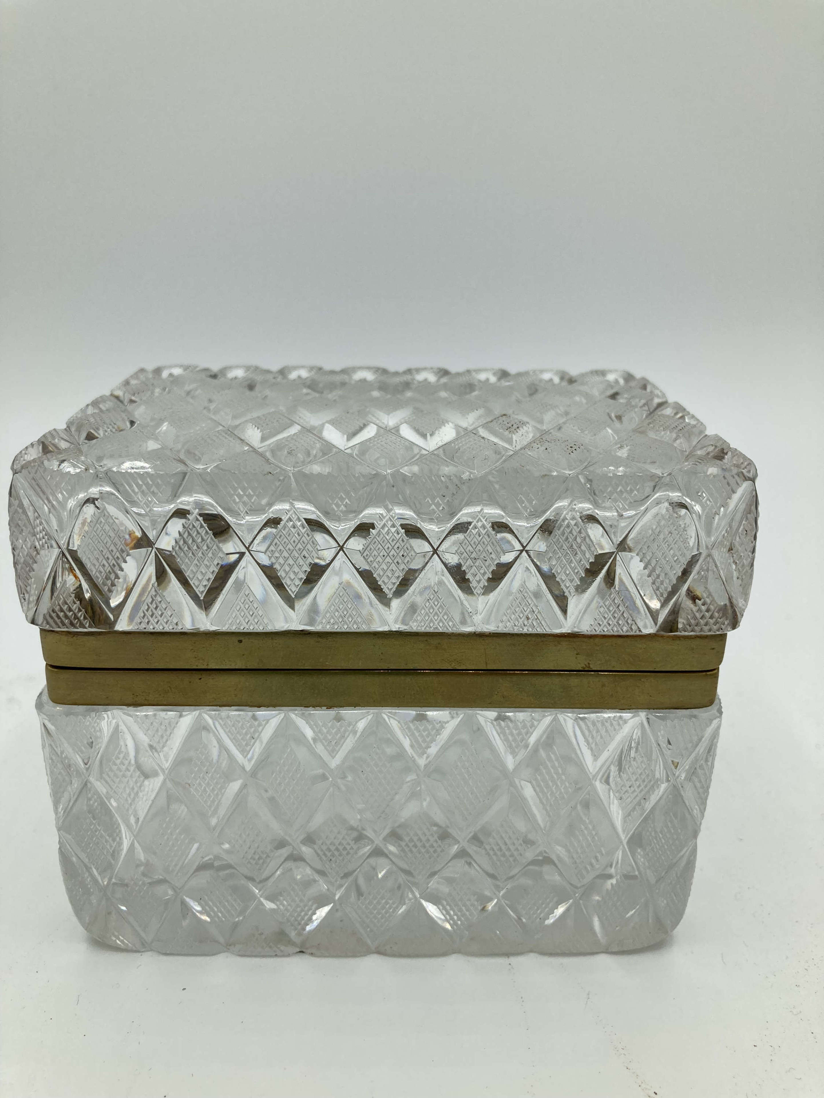 Cut Glass French Trinket  Box