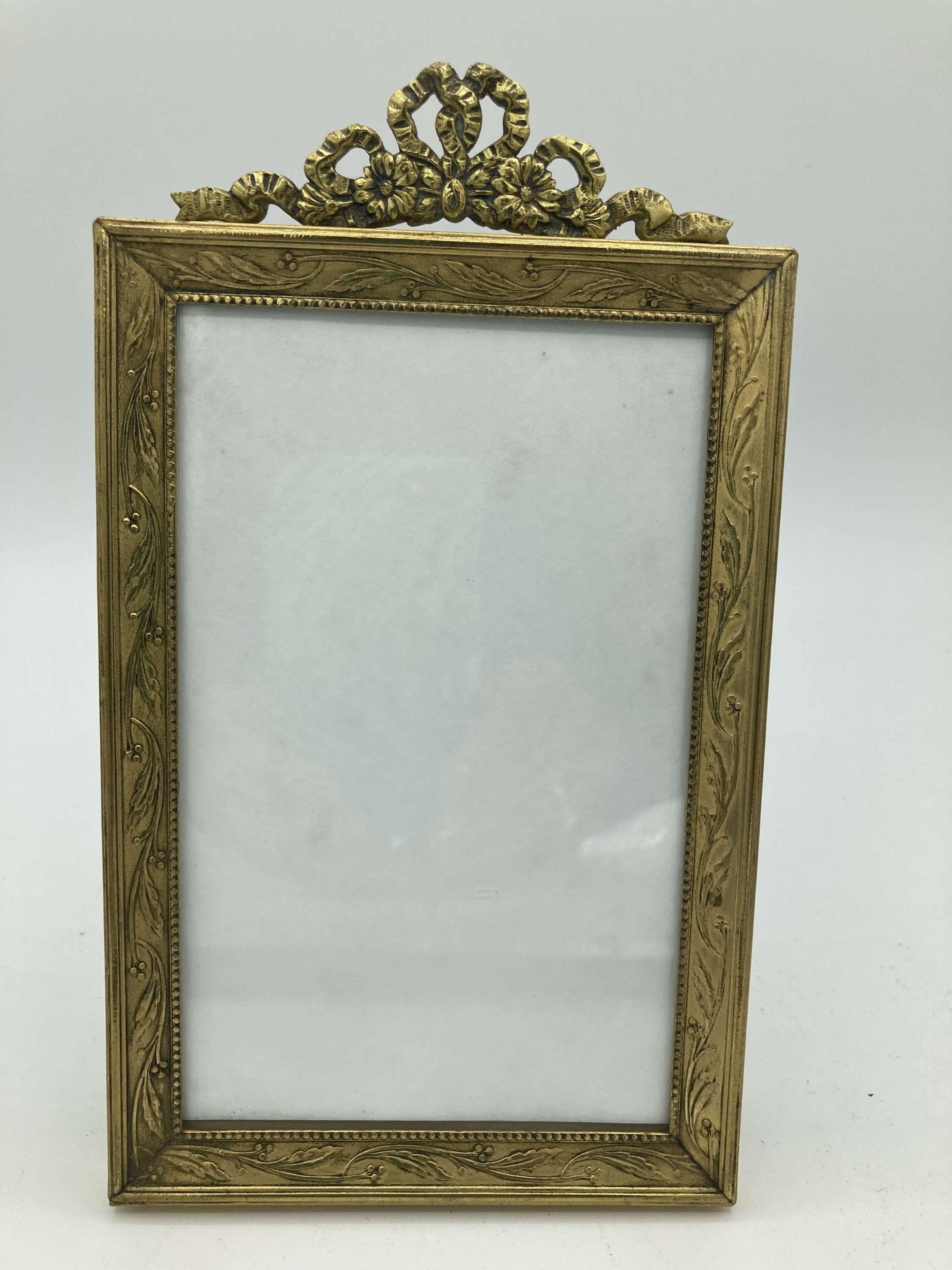 French Gilt Brass Photo Frame
