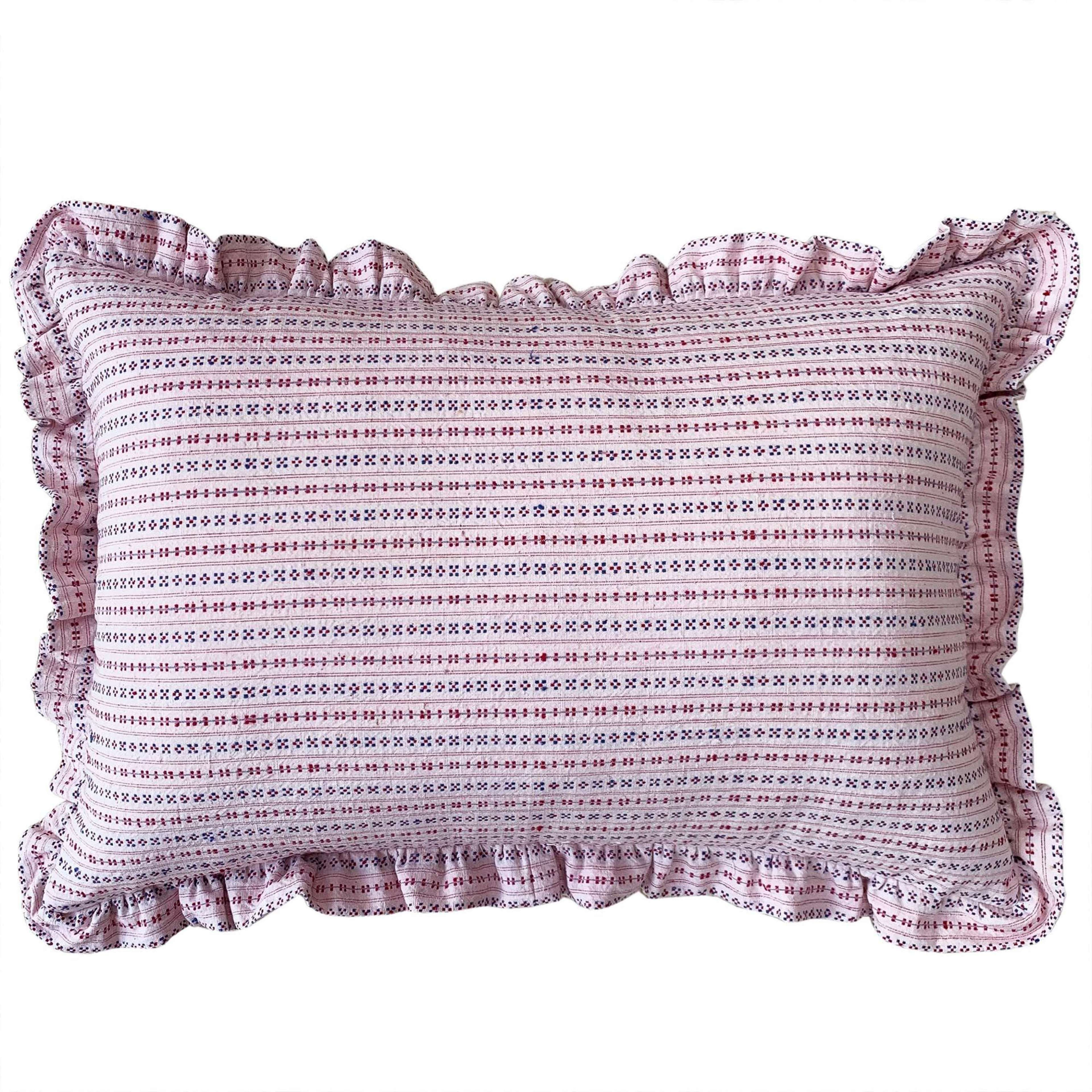 Songjiang cushions - ditsy with frill trim