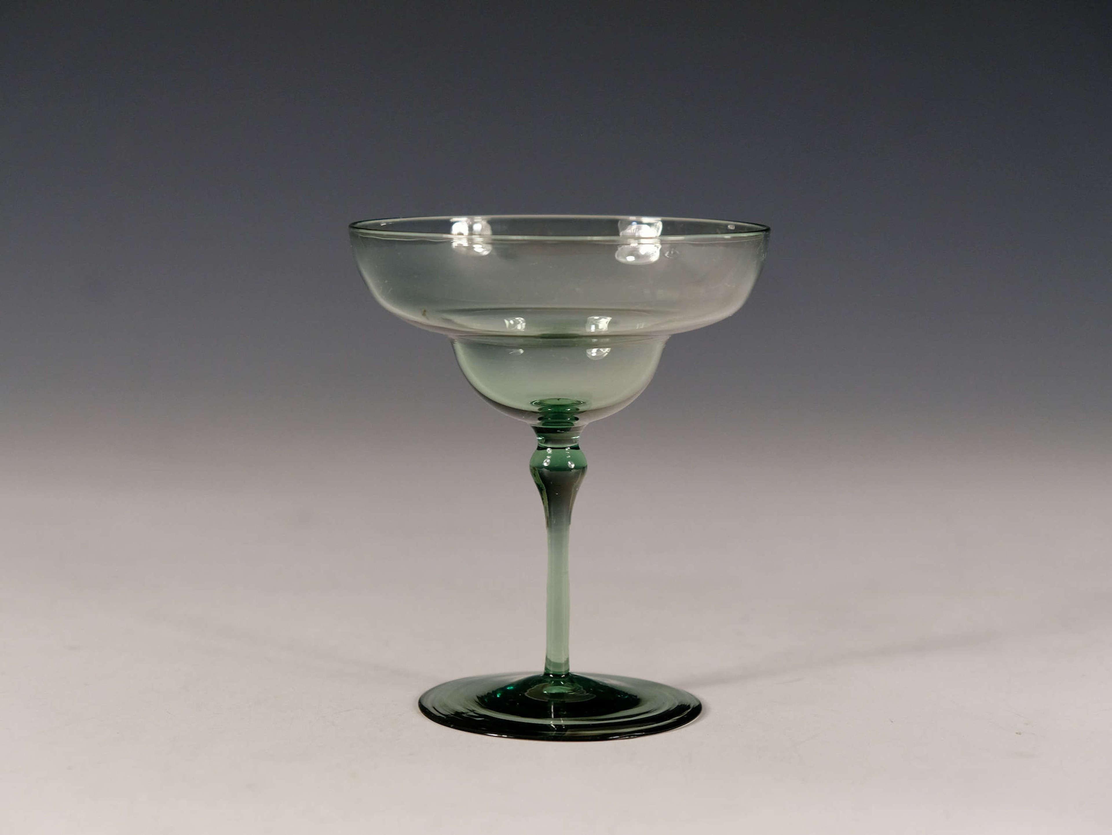 Antique glass champagne glass T G Jackson c1870