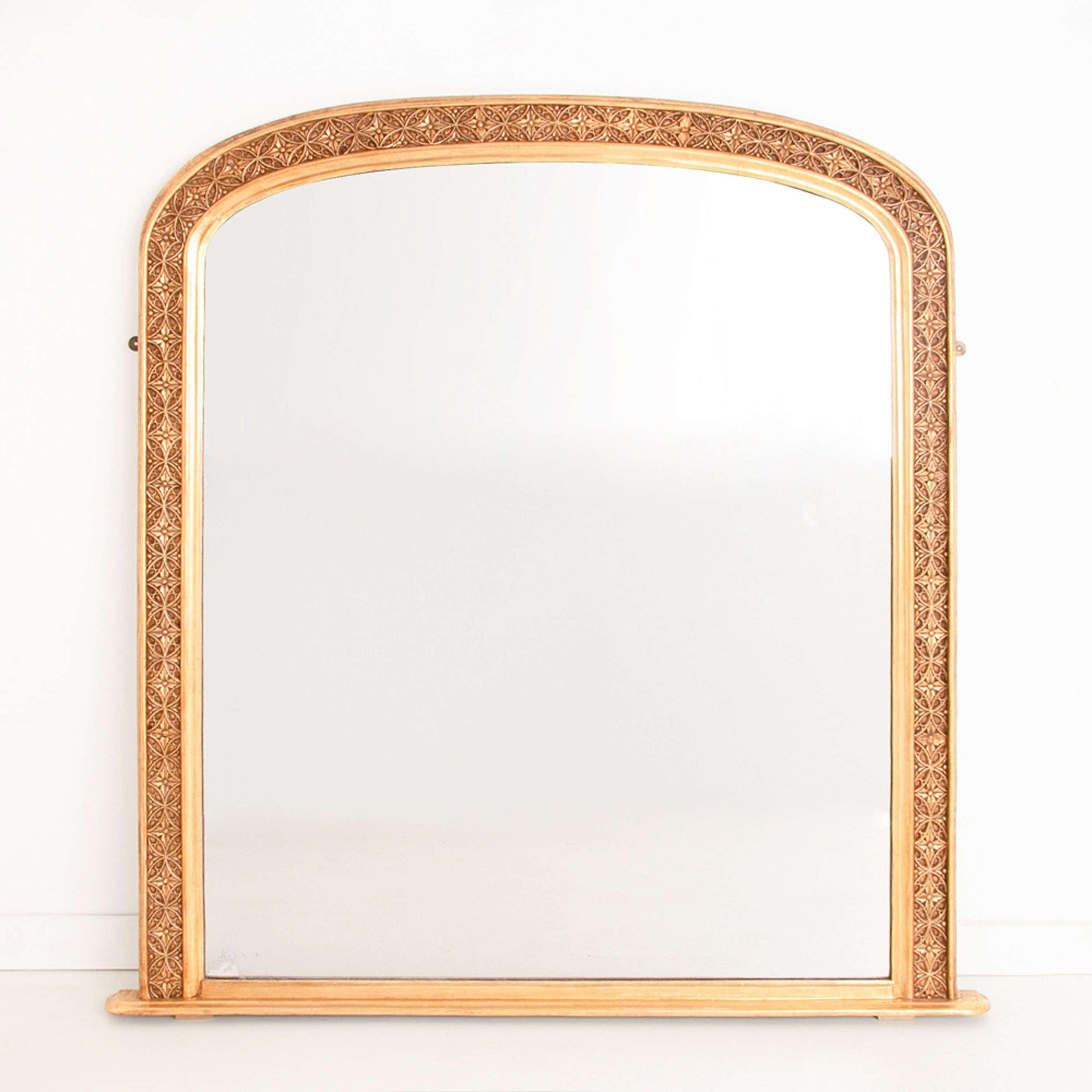 Antique Gilded Overmantle Mirror c.1840