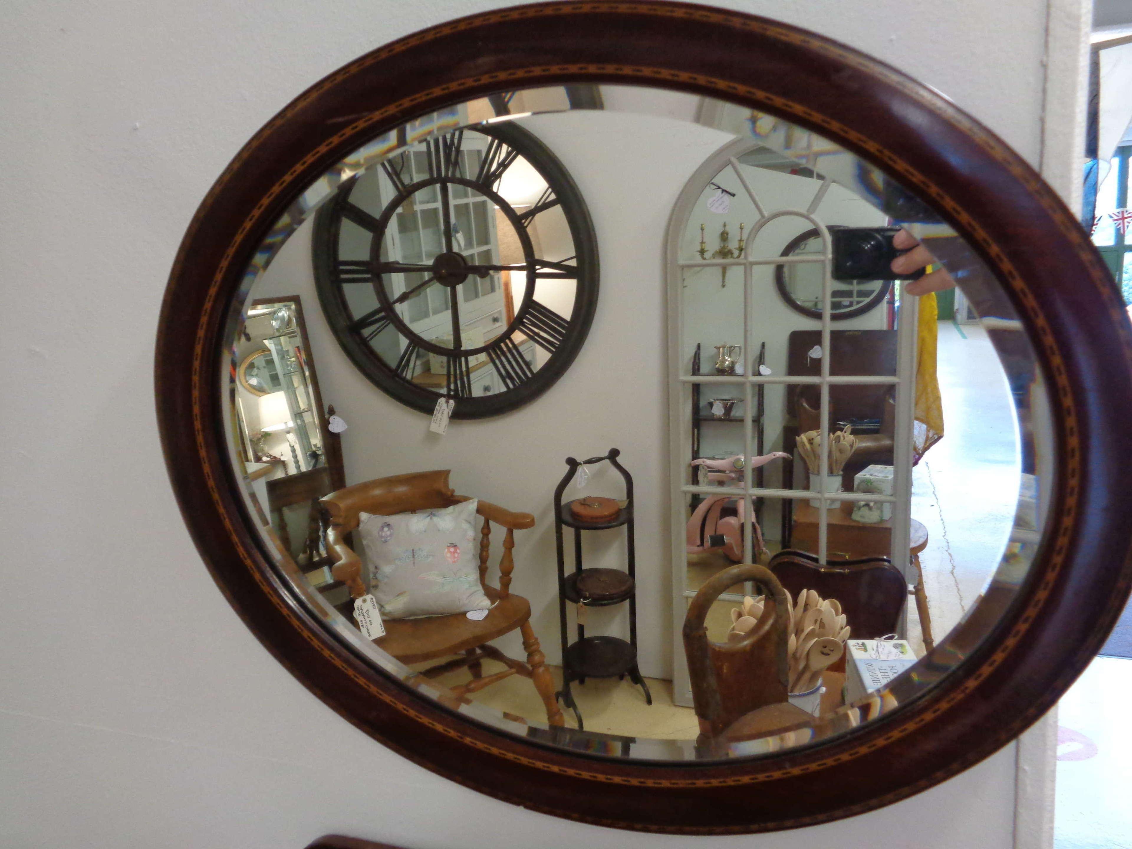 Edwardian Oval Bevelled Mirror