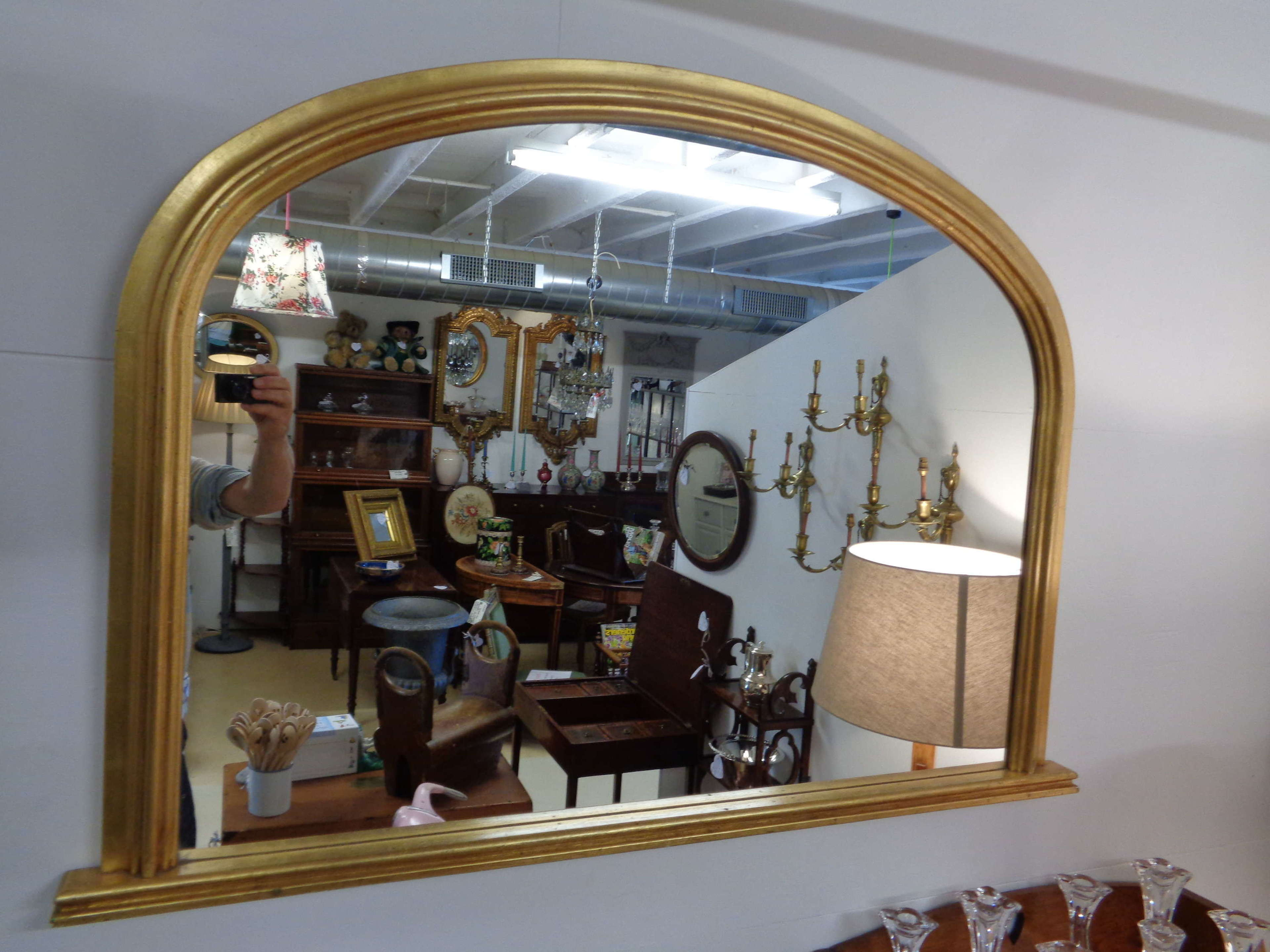 Gold Gilt Over Mantle Mirror