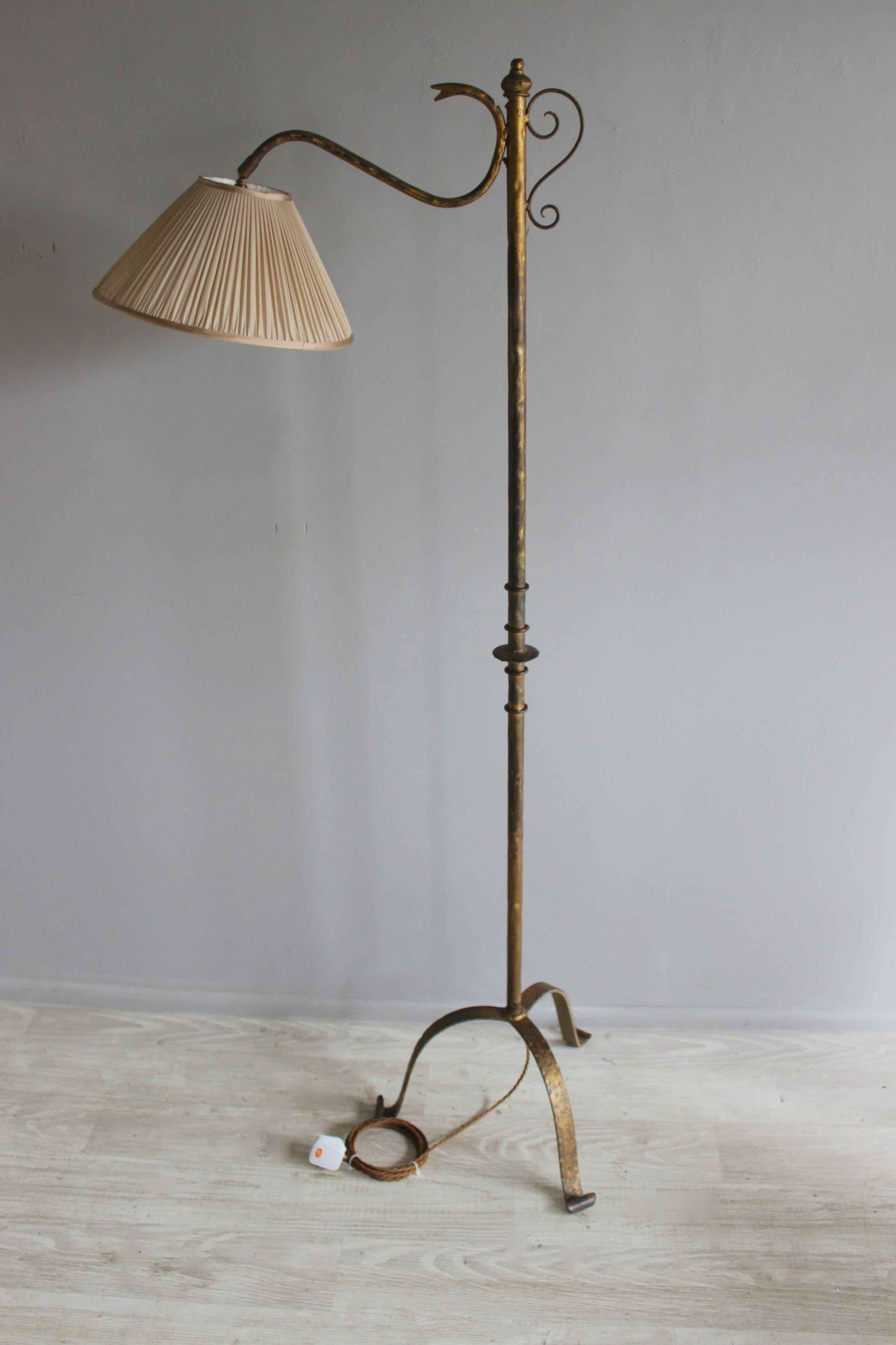 Spanish three foot  reading lamp