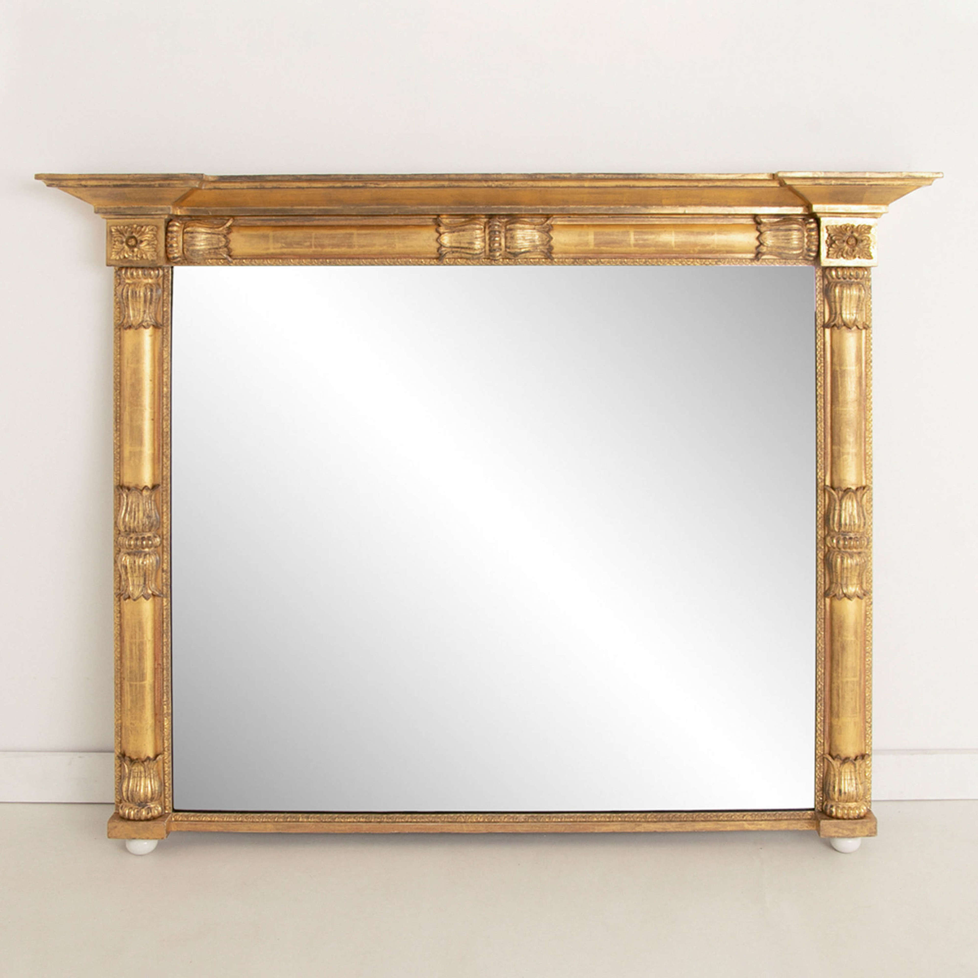 Antique Irish Water Gilded Overmantle Mirror c.1820