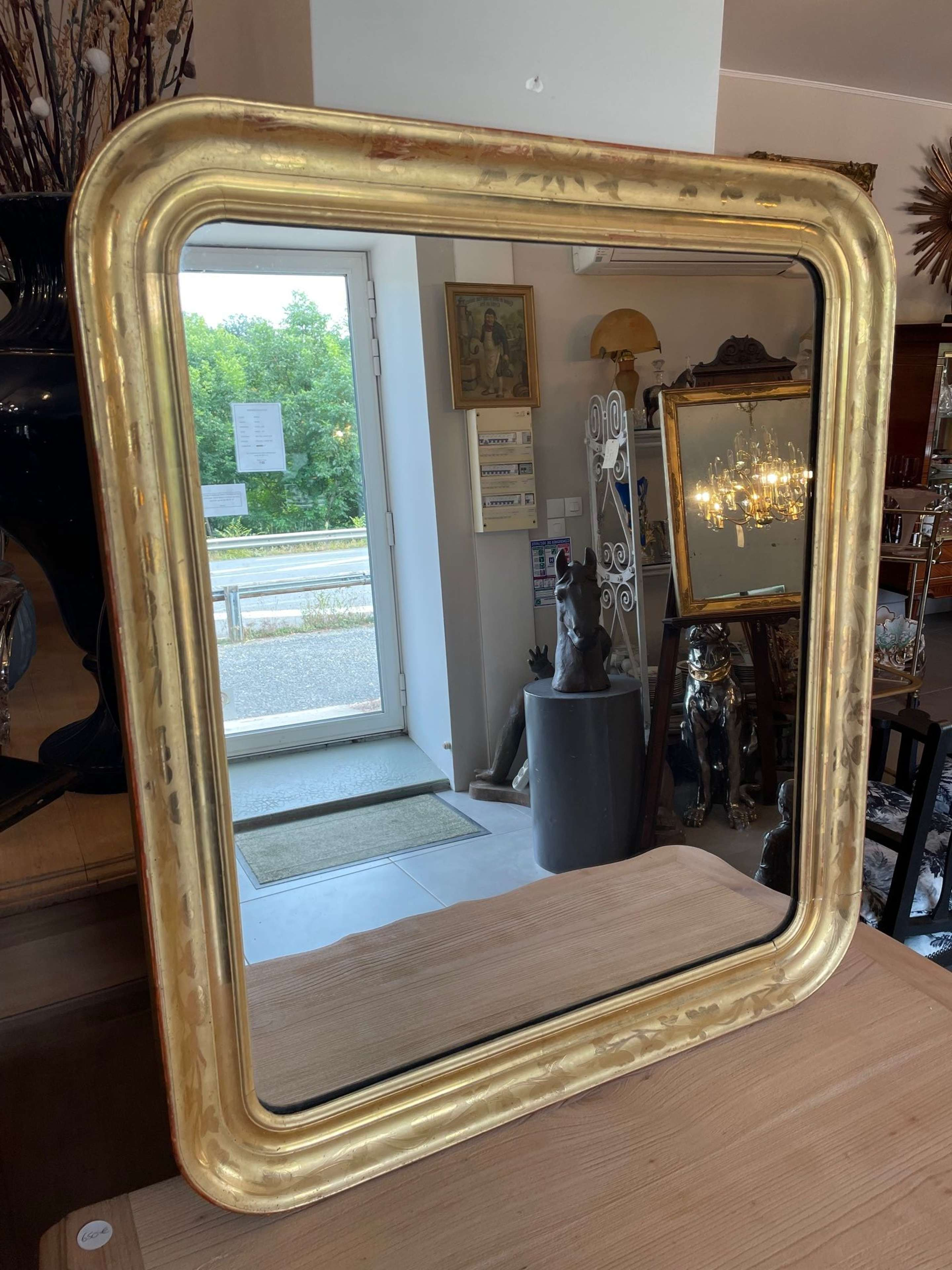 French Louis Philippe Golden wood mirror
