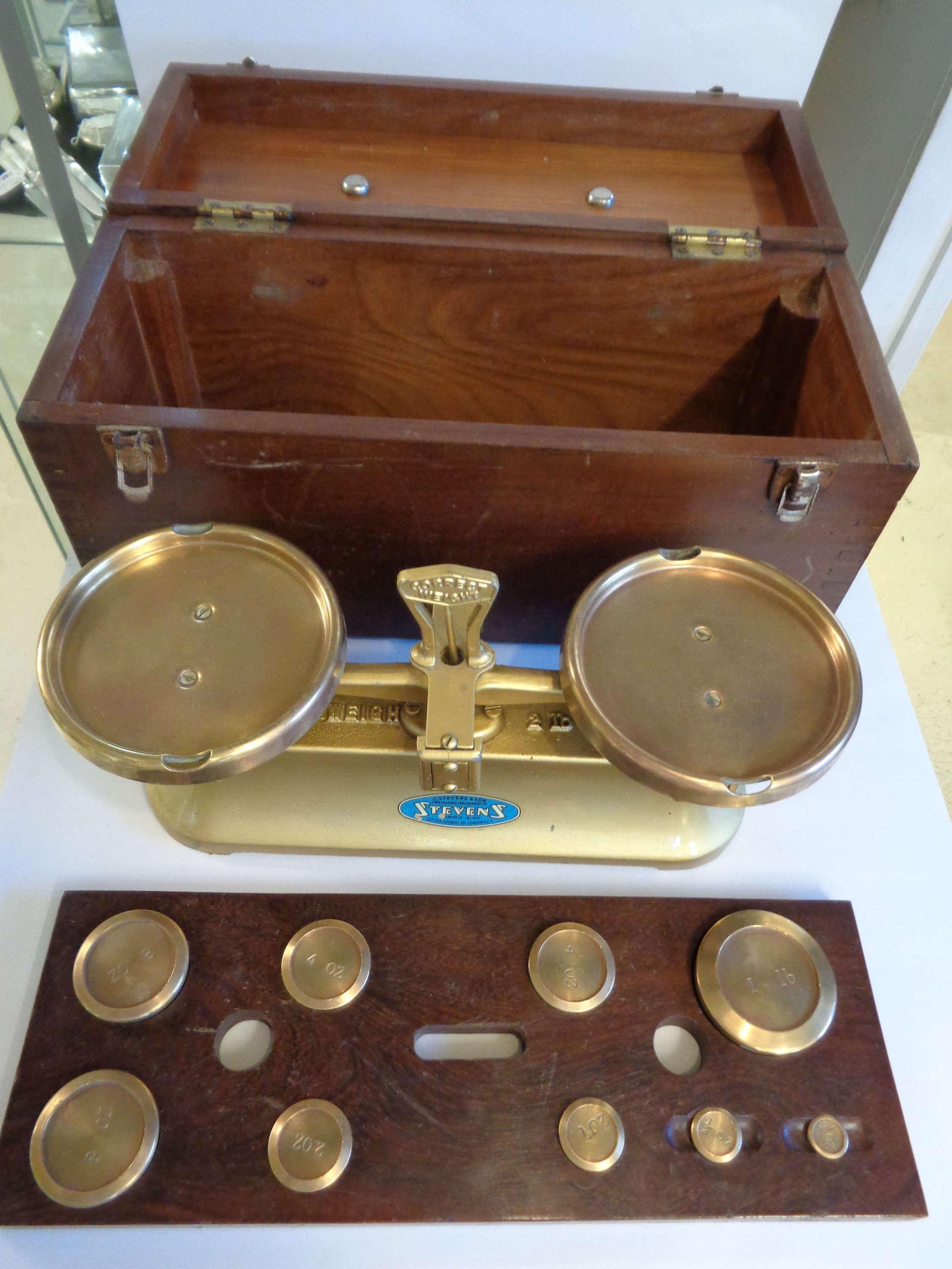 Vintage Stevens Brass Weighing Scales