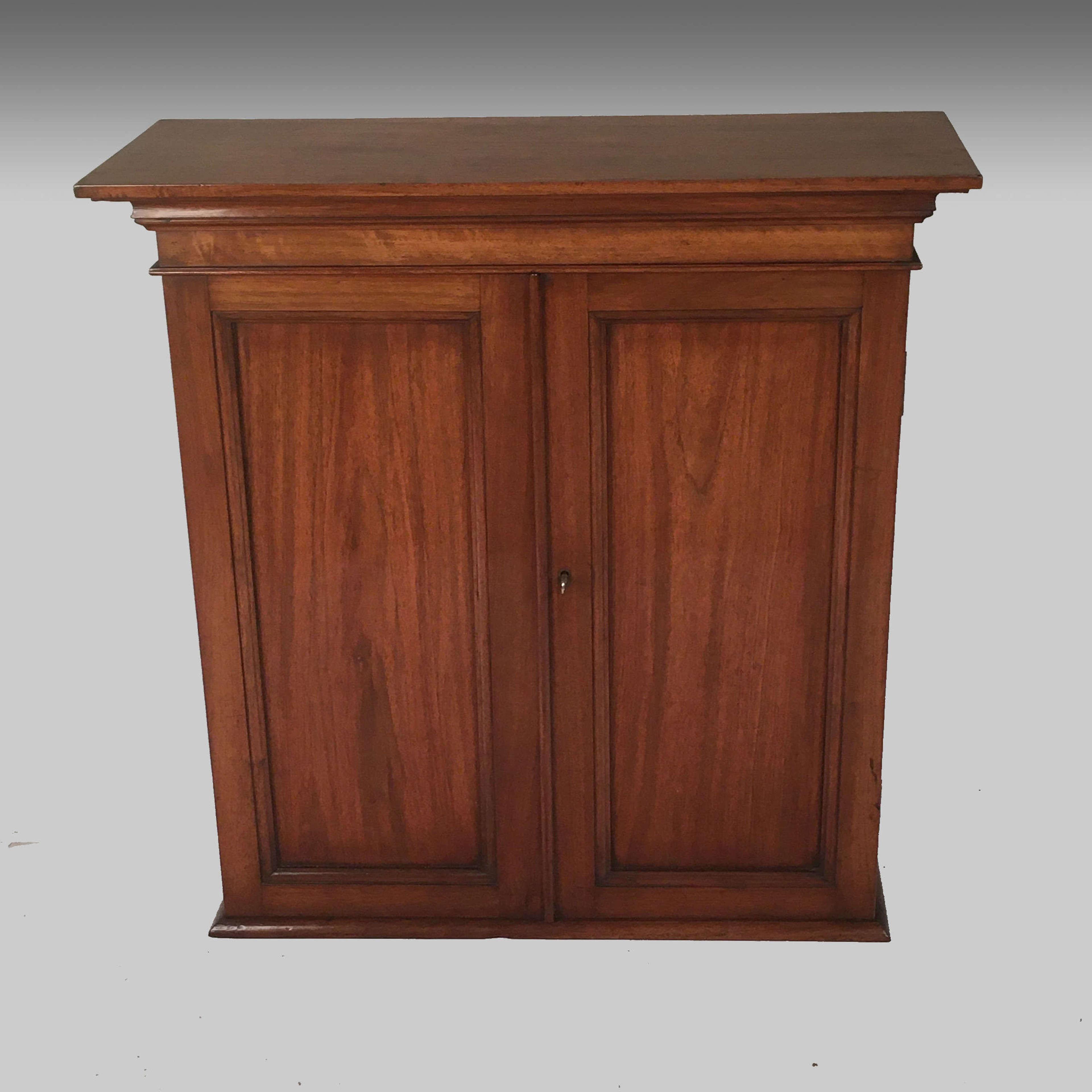 19th century walnut wall cabinet