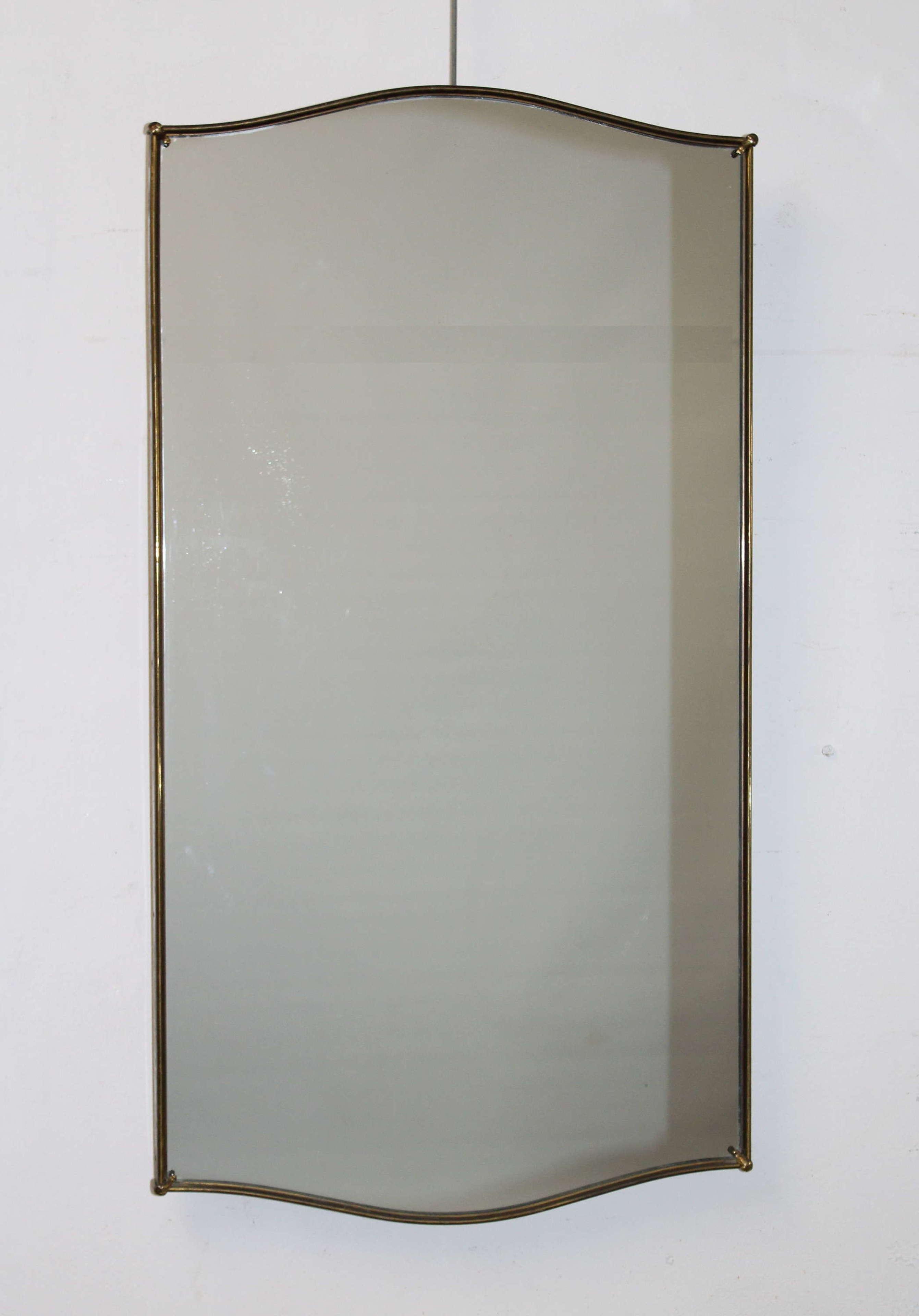 Mid-century modern portrait Italian mirror
