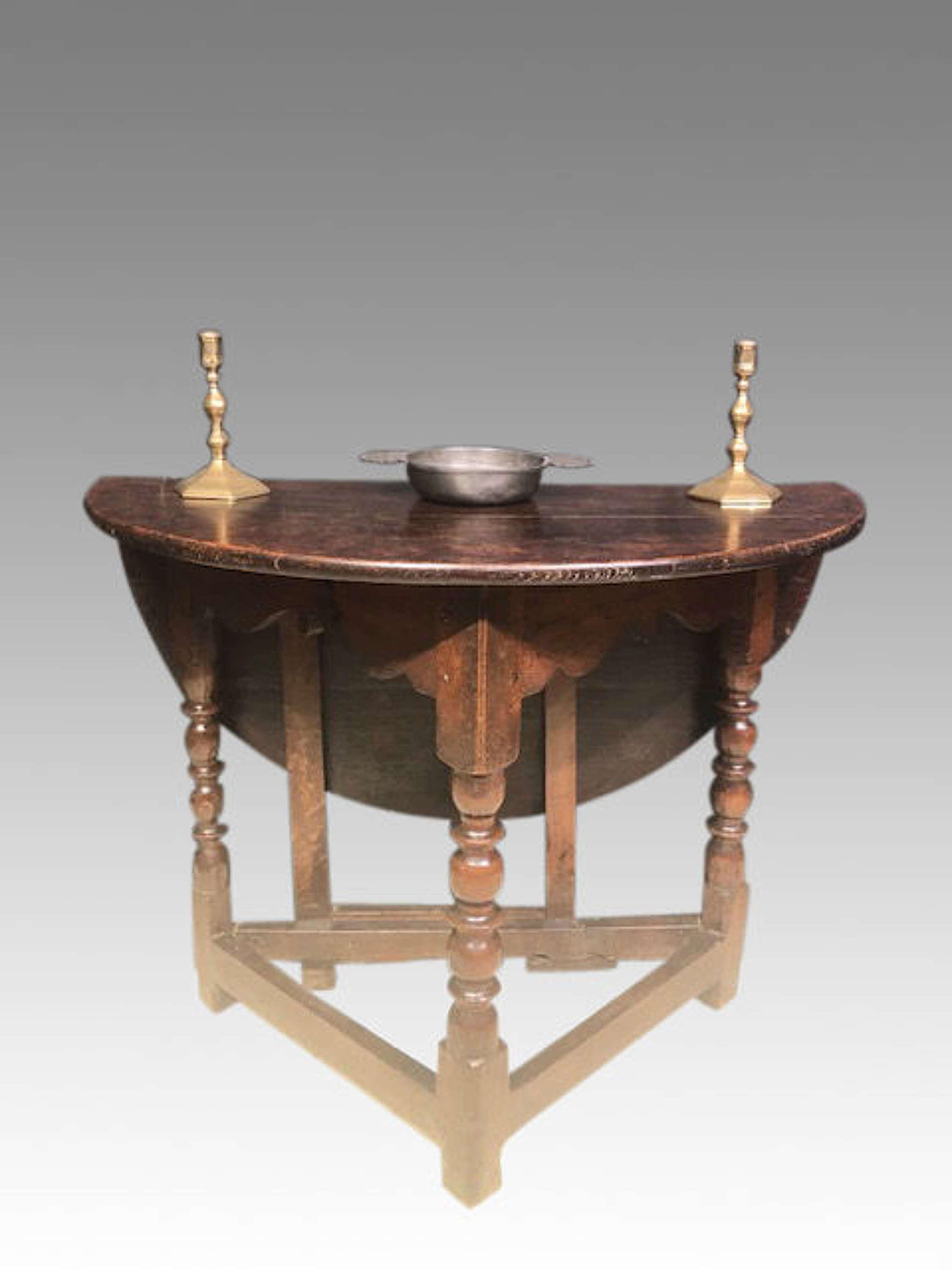 Charles II oak credence table.