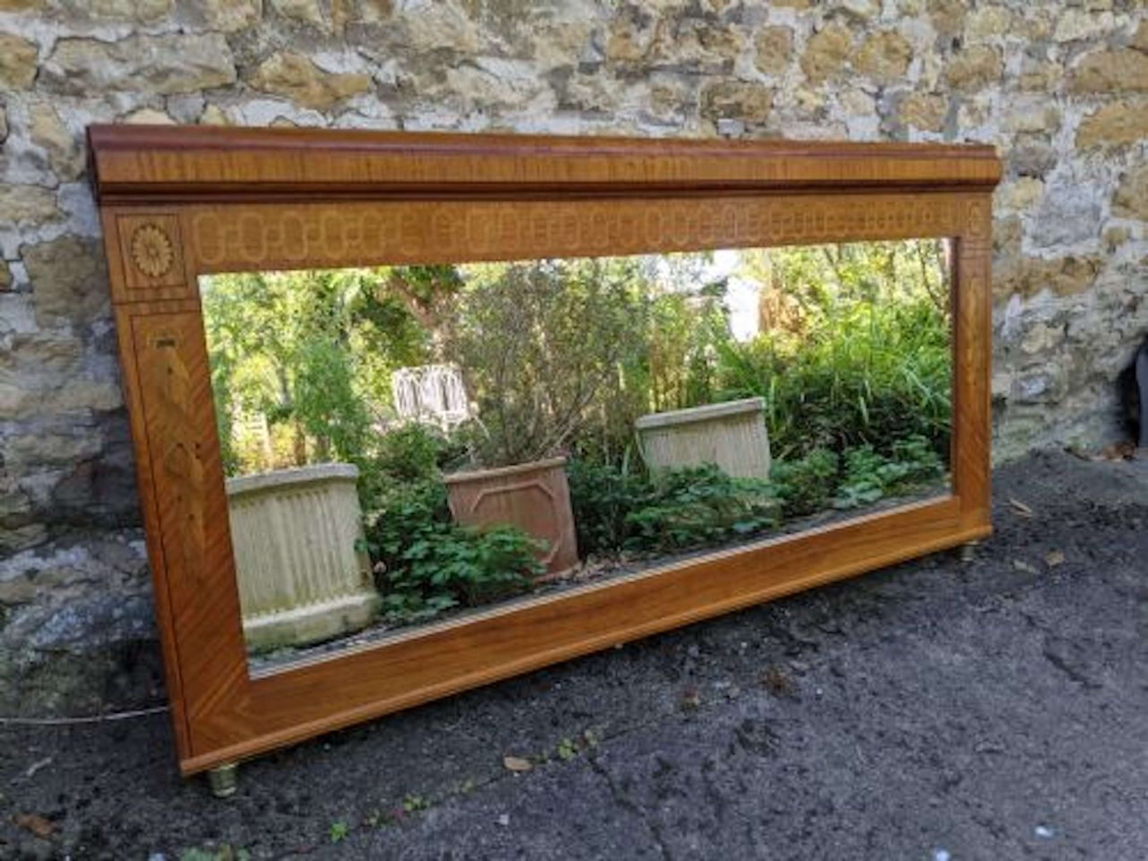Early 20th Century Large Overmantel Mirror