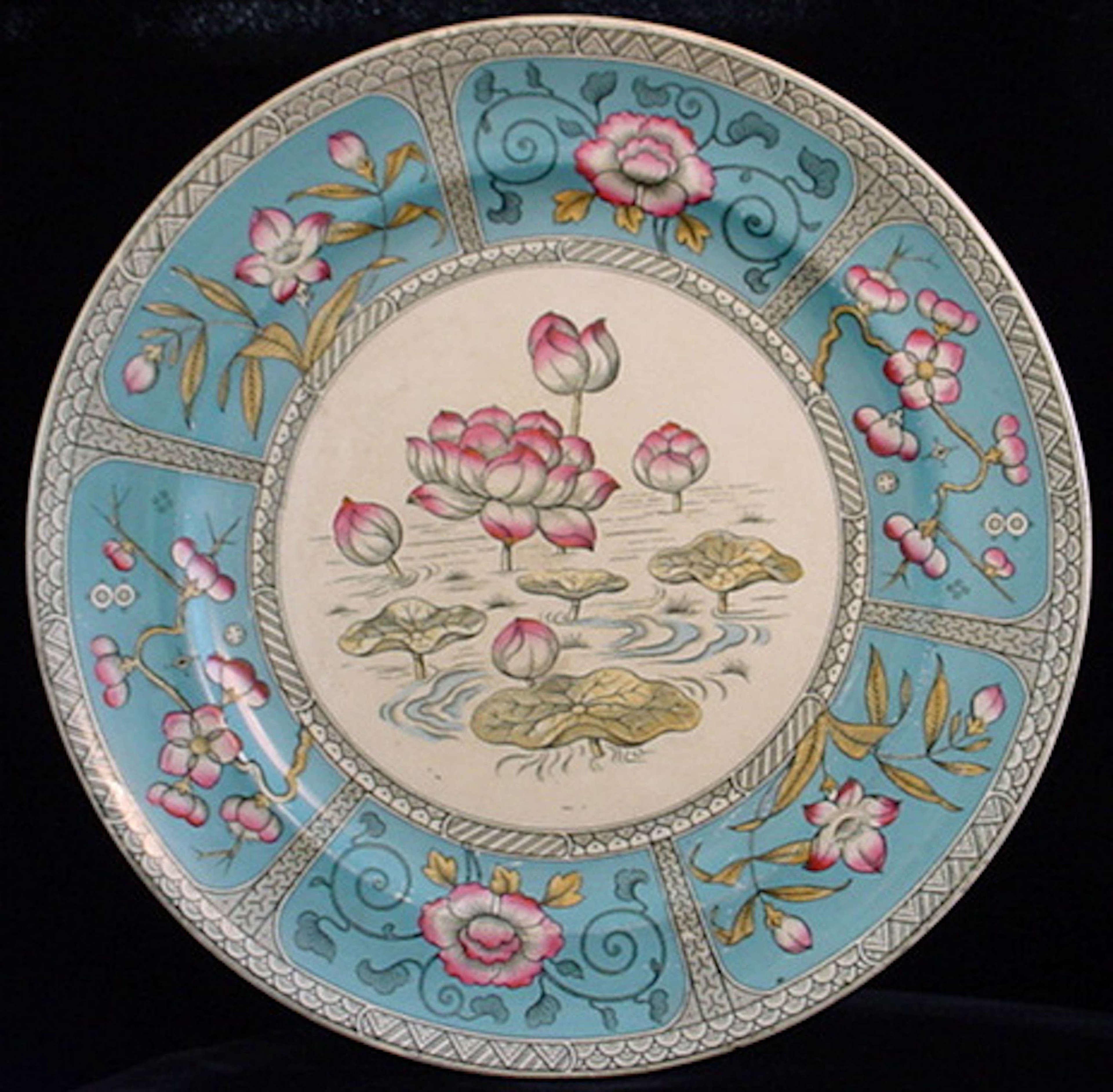 Polychrome Aesthetic Transfer Plate ~ JAPAN 1883