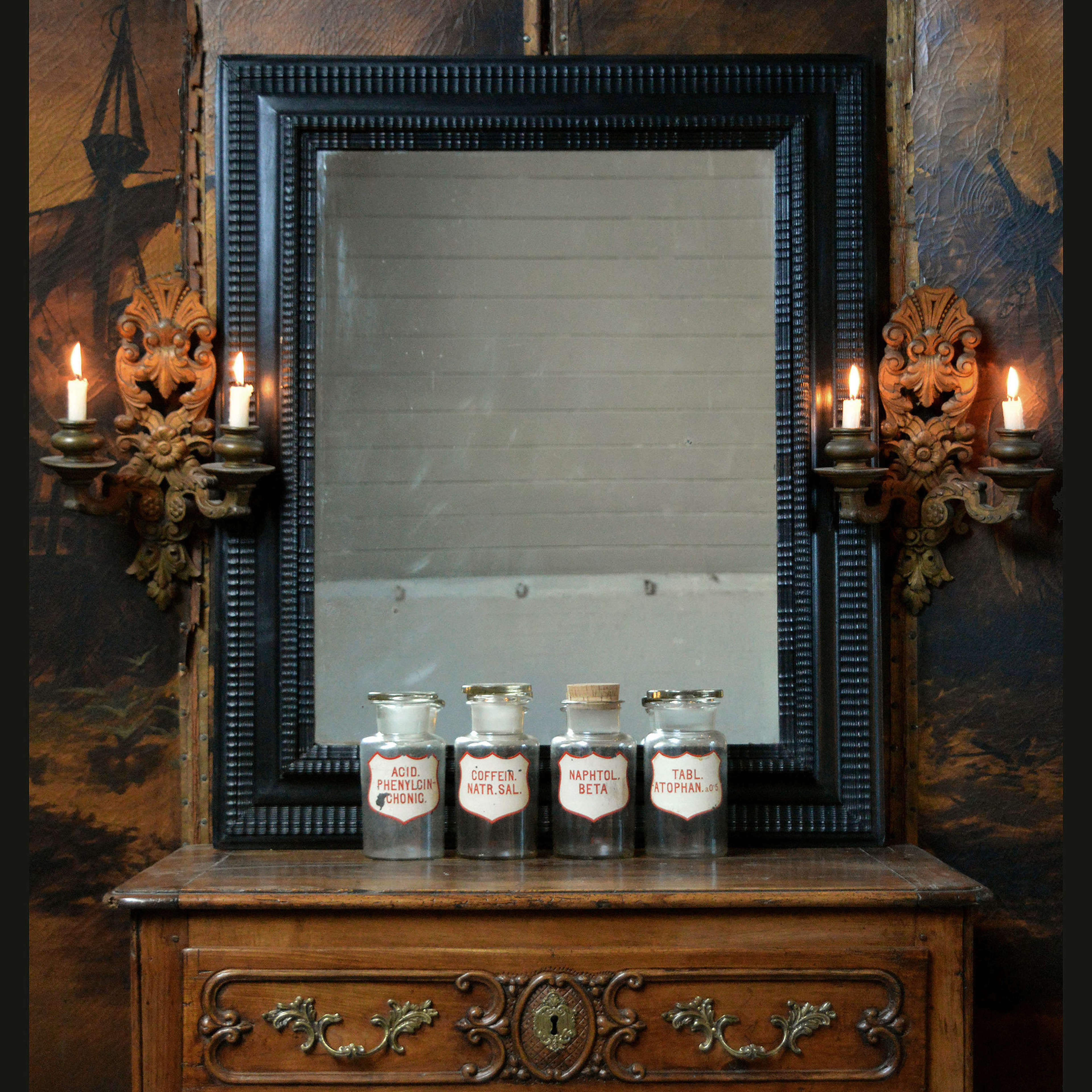 Late 19th Century Dutch ripple frame mirror